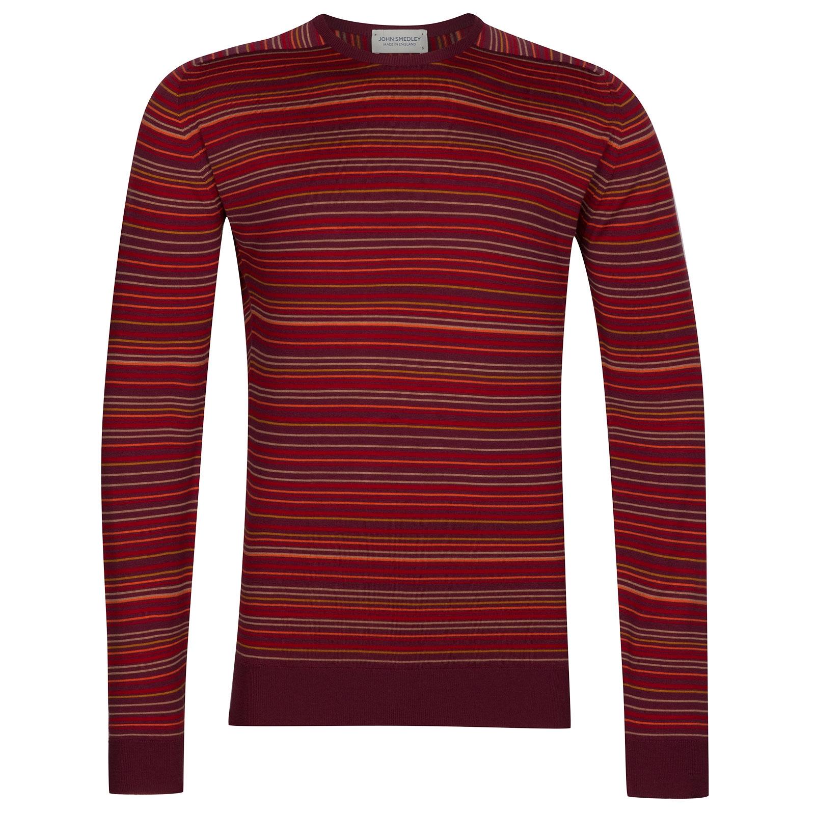 John Smedley Watson Extra Fine Merino Pullover in Bordeaux-XXL