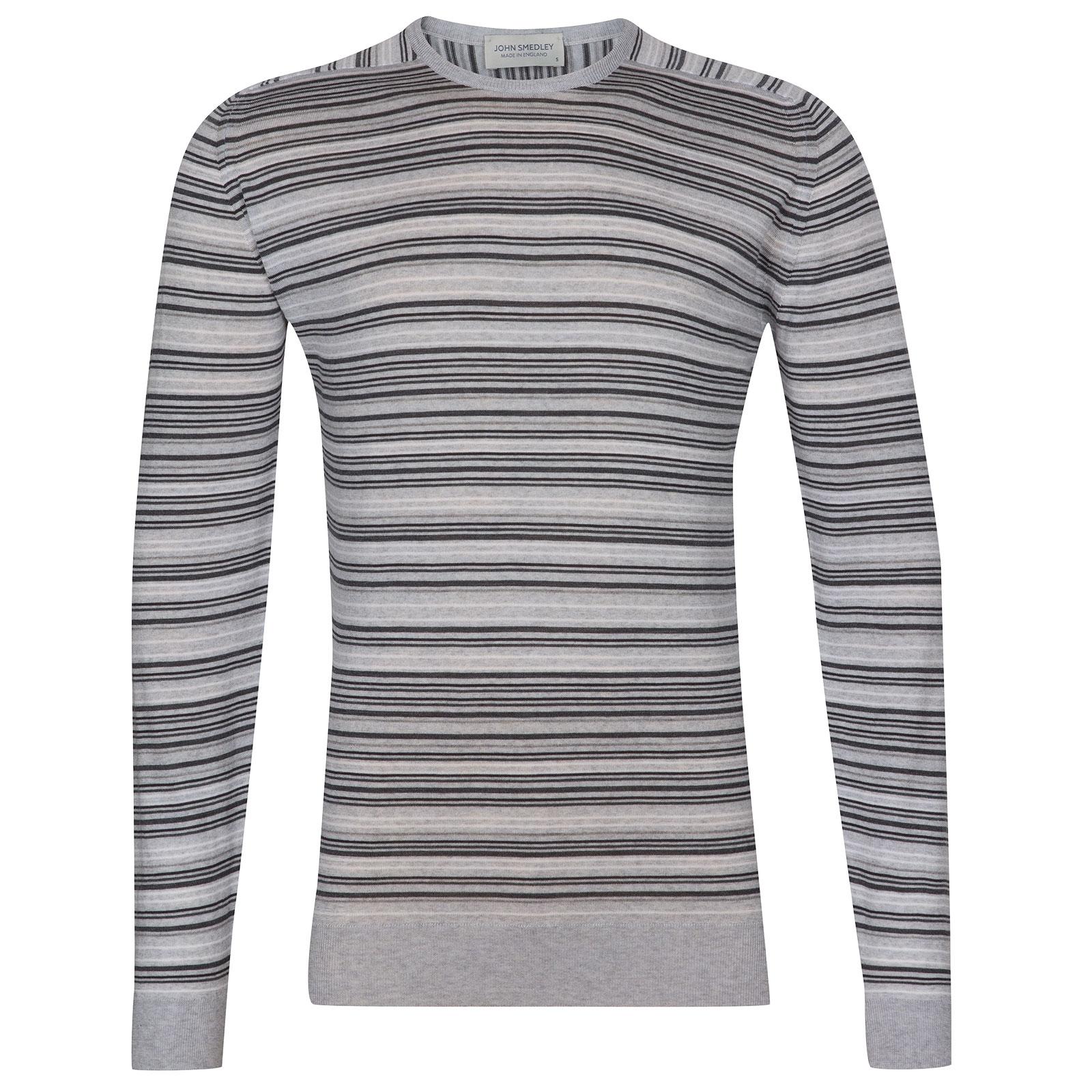 John Smedley Watson Extra Fine Merino Pullover in Bardot Grey-XL