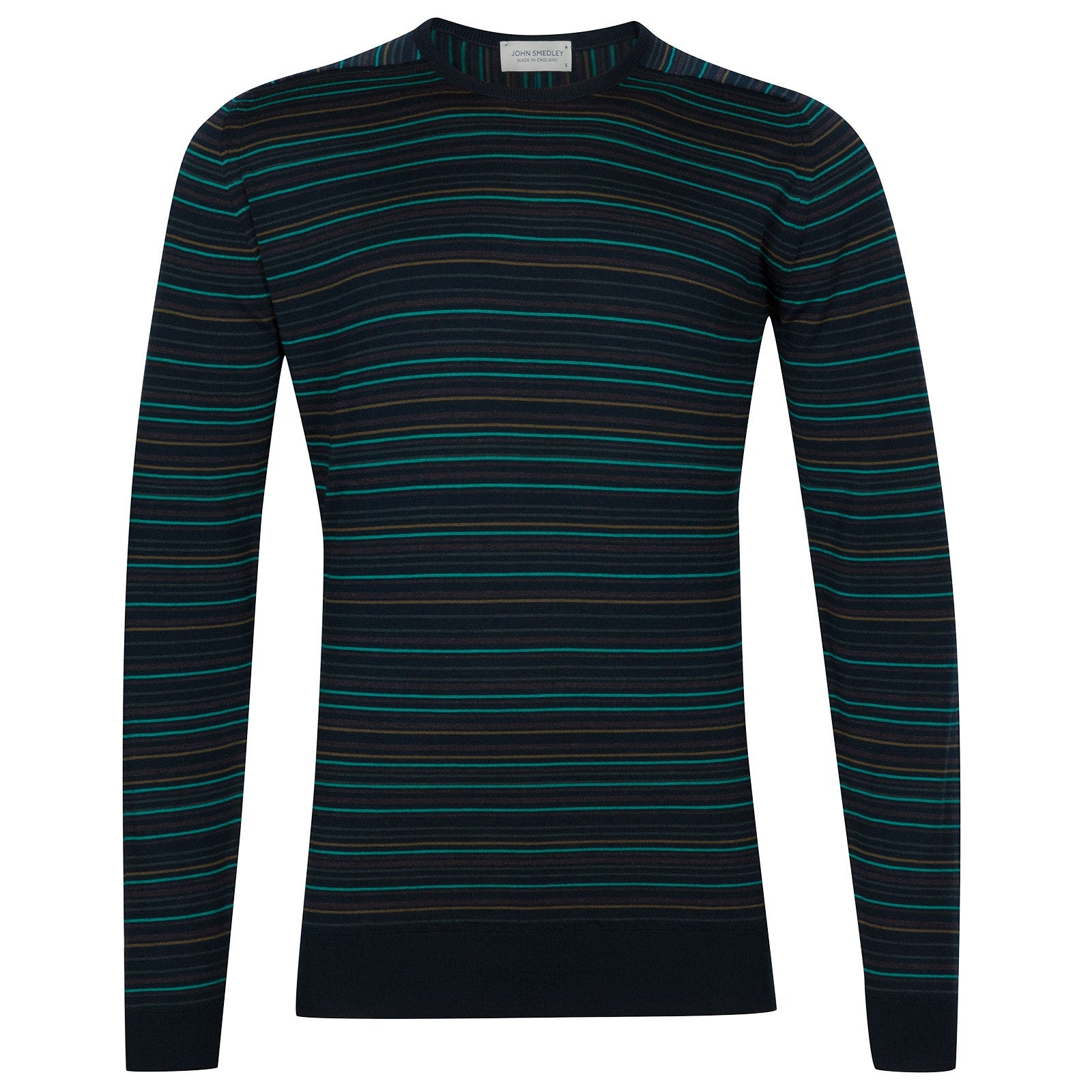 John Smedley Watson Extra Fine Merino Pullover in Silver-M