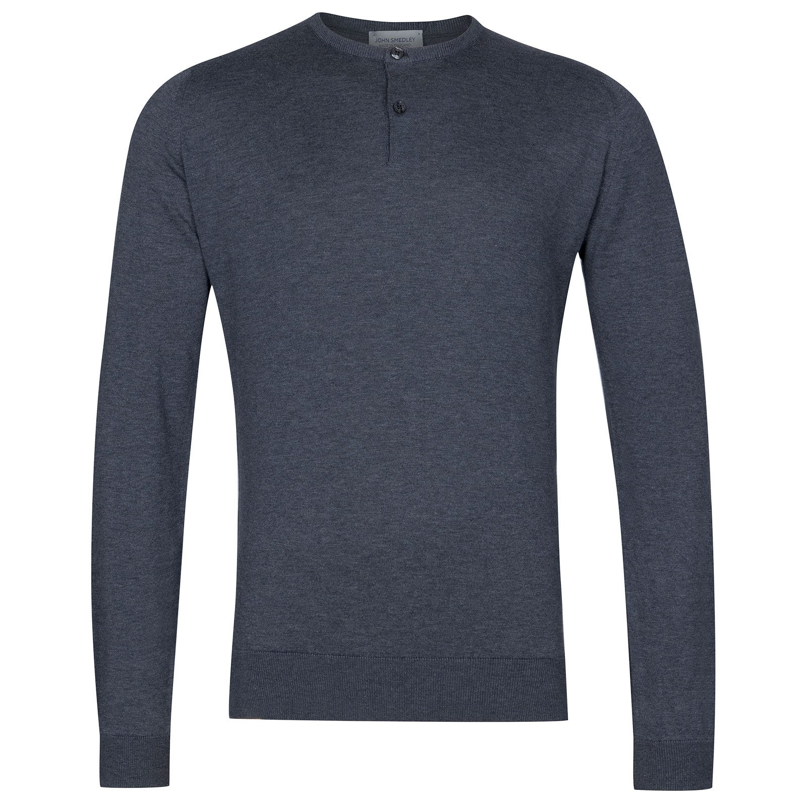 John Smedley Wembury Sea Island Cotton Pullover in Charcoal-M