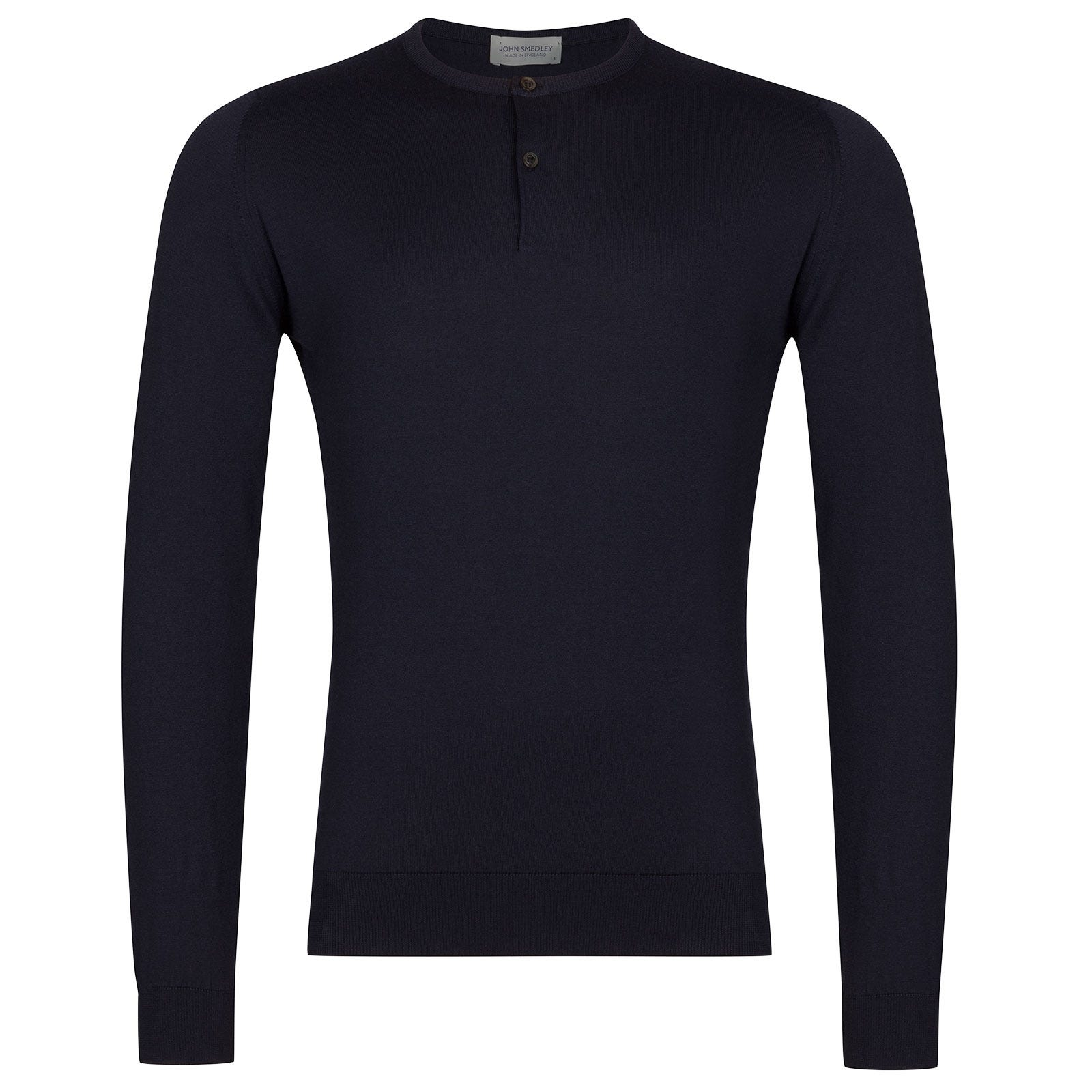 John Smedley Wembury Sea Island Cotton Pullover in Navy-M