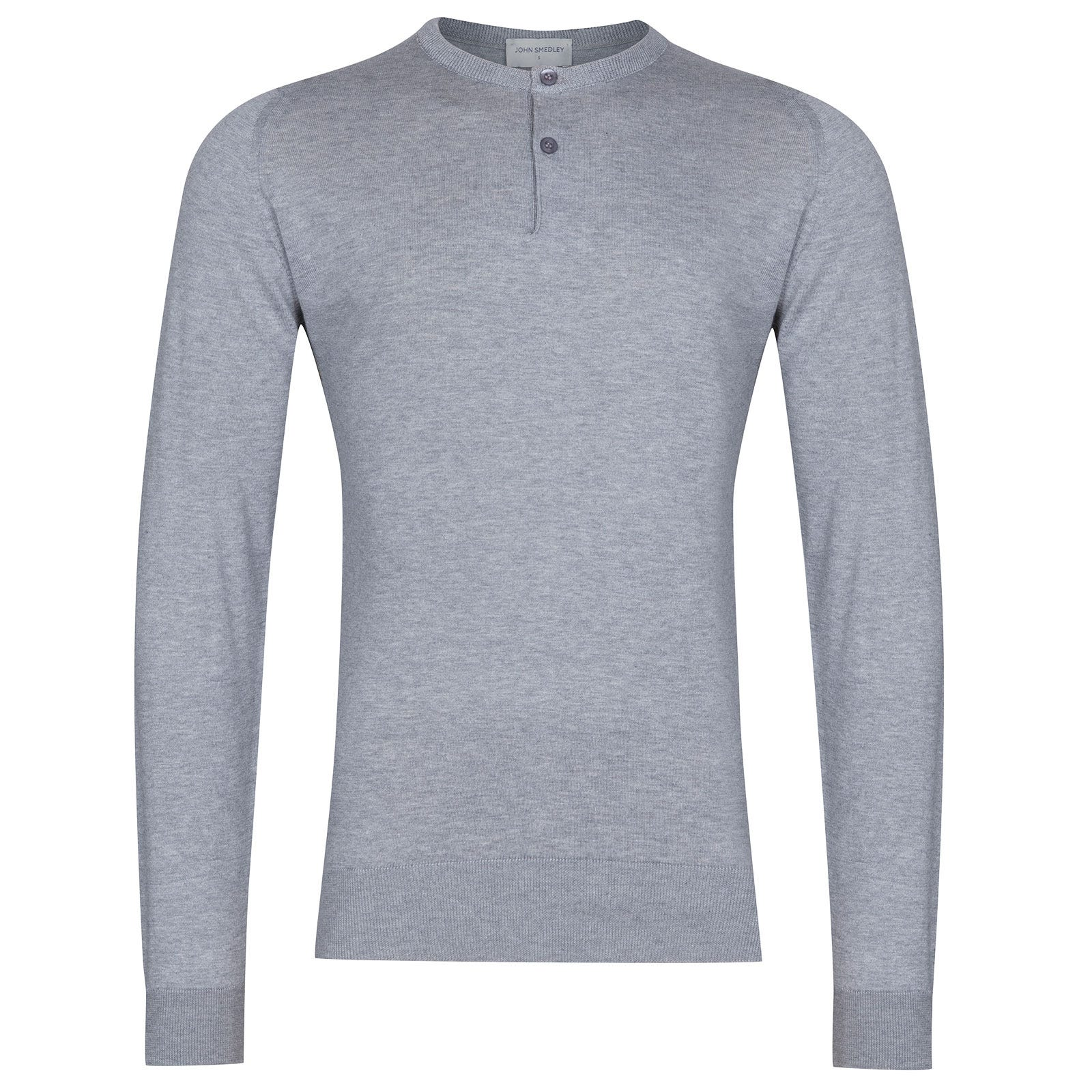 John Smedley Wembury Sea Island Cotton Pullover in Silver-L