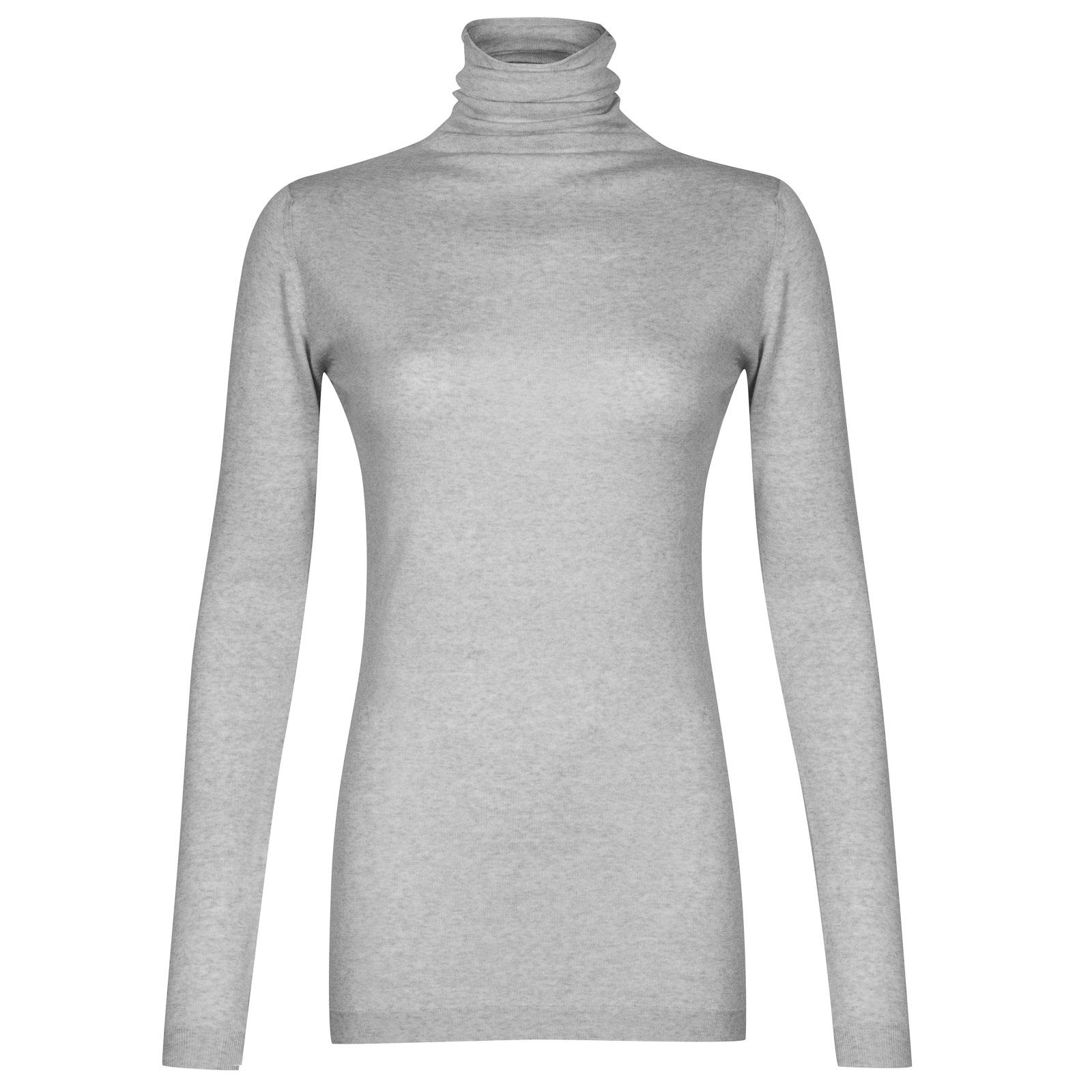 John Smedley westley Merino Wool Sweater in Bardot Grey-L