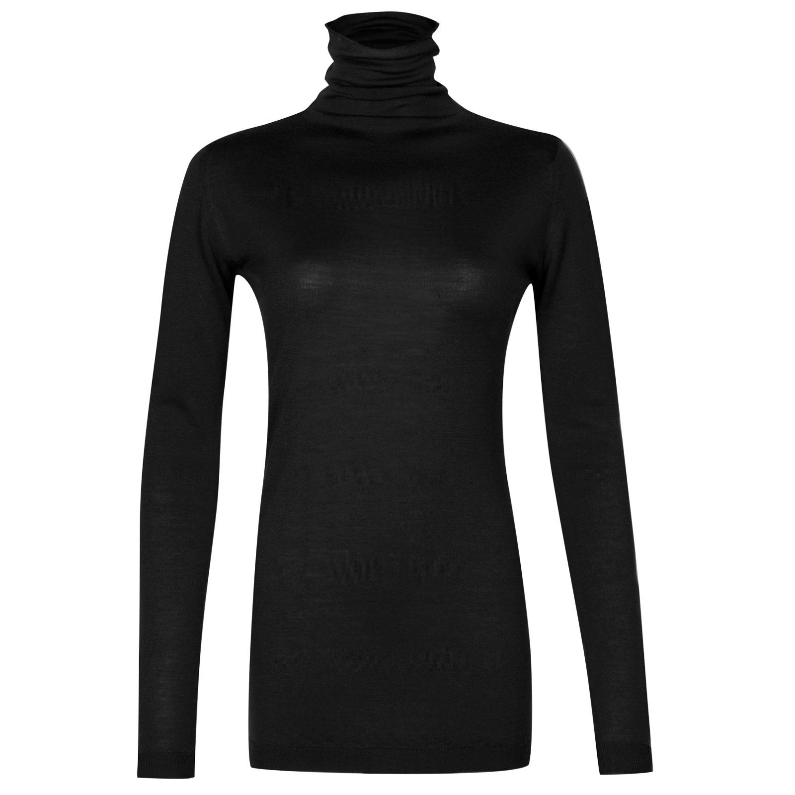 John Smedley westley Merino Wool Sweater in Black-L