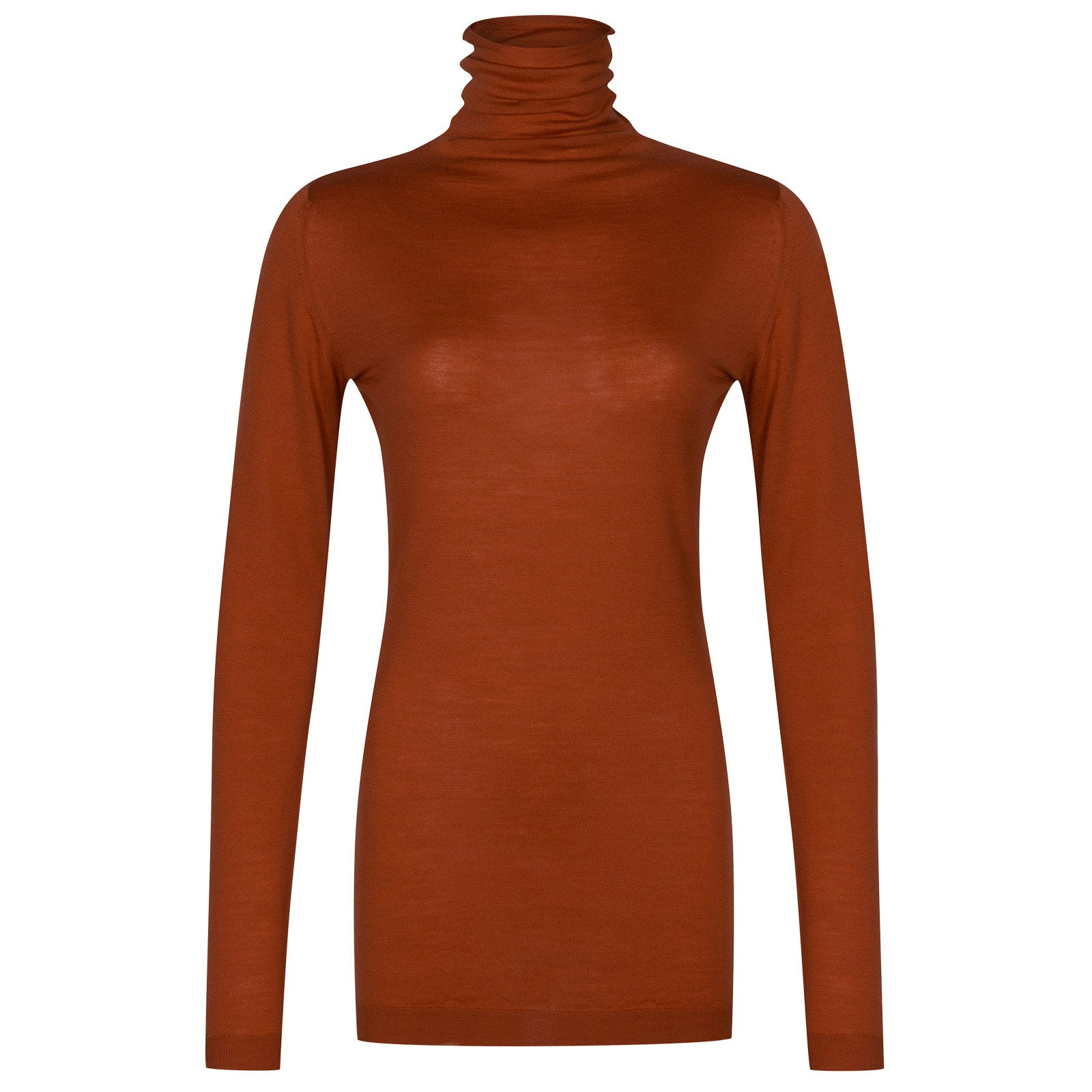 John Smedley westley Merino Wool Sweater in Flare Orange-S