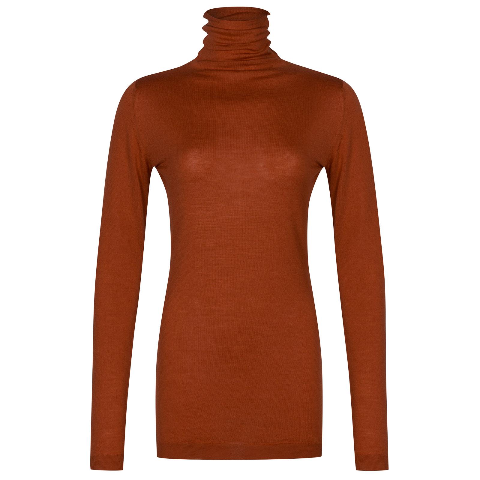 John Smedley westley Merino Wool Sweater in Flare Orange-L