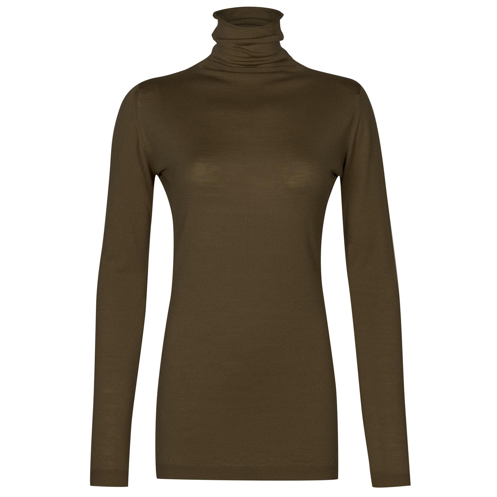 John Smedley westley Merino Wool Sweater in Kielder Green-XL