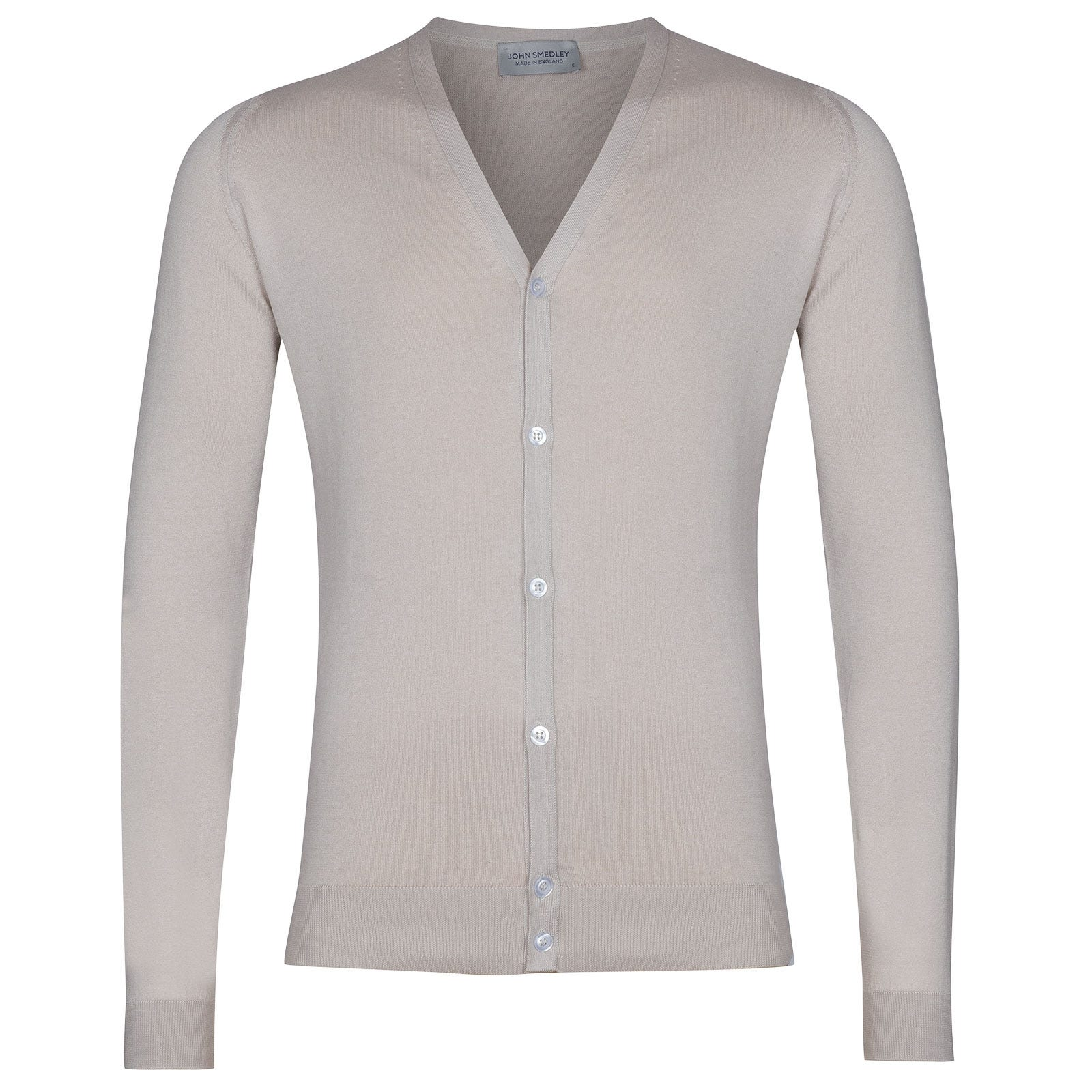 John Smedley Whitchurch in Brunel Beige Cardigan-LGE