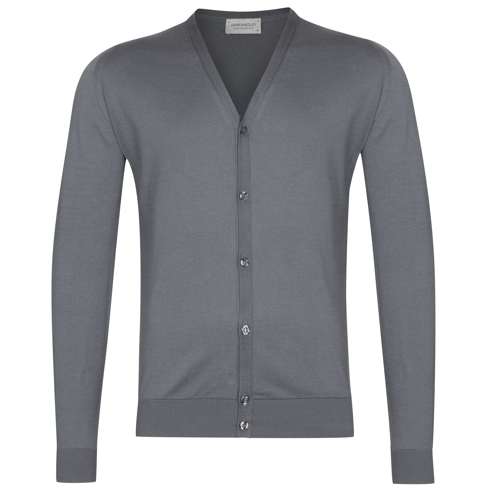 John Smedley Whitchurch in Grey Stone Cardigan-LGE