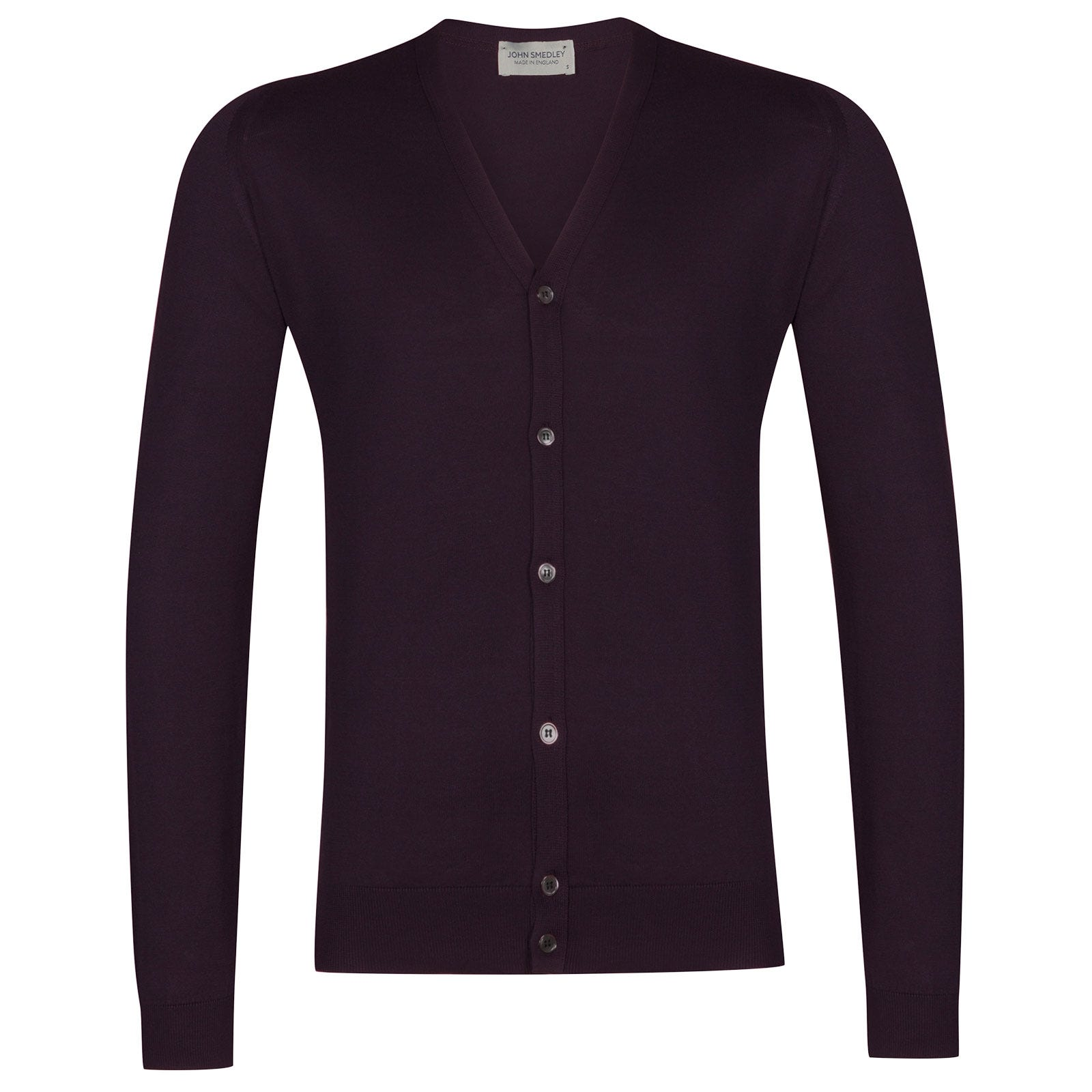 John Smedley Whitchurch Sea Island Cotton Cardigan in Mystic