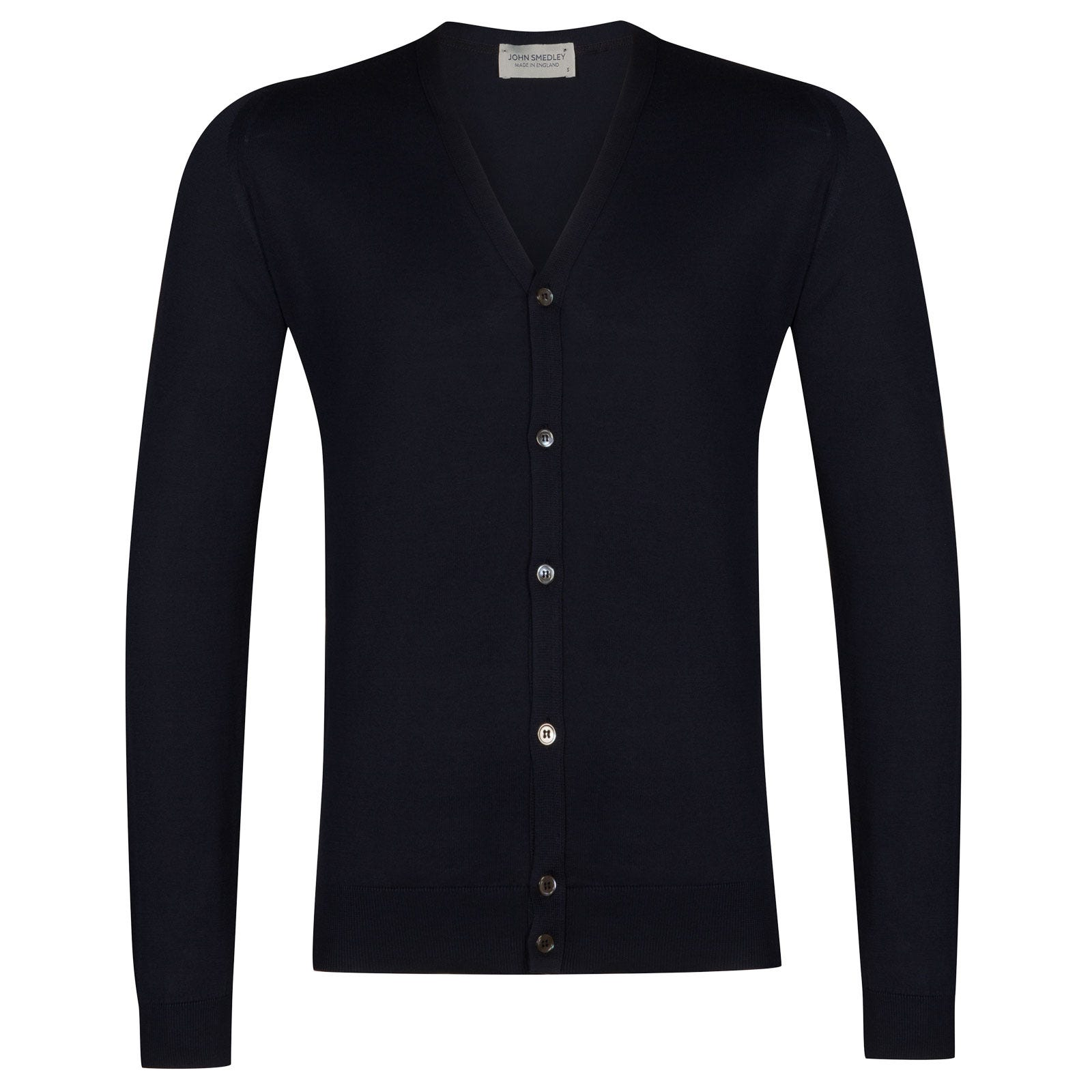 John Smedley whitchurch Sea Island Cotton Cardigan in Navy-S