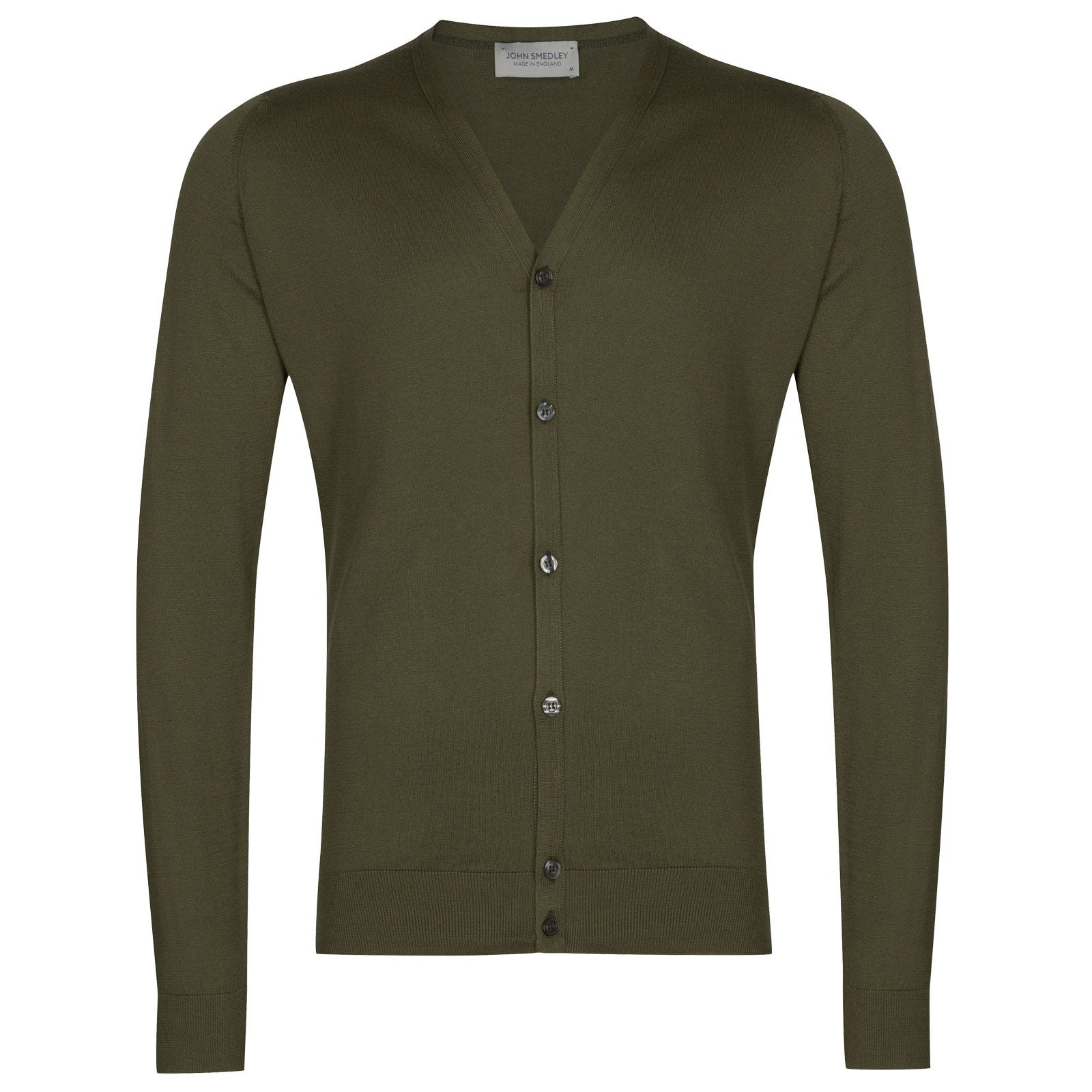 John Smedley Whitchurch in Sepal green Cardigan-LGE