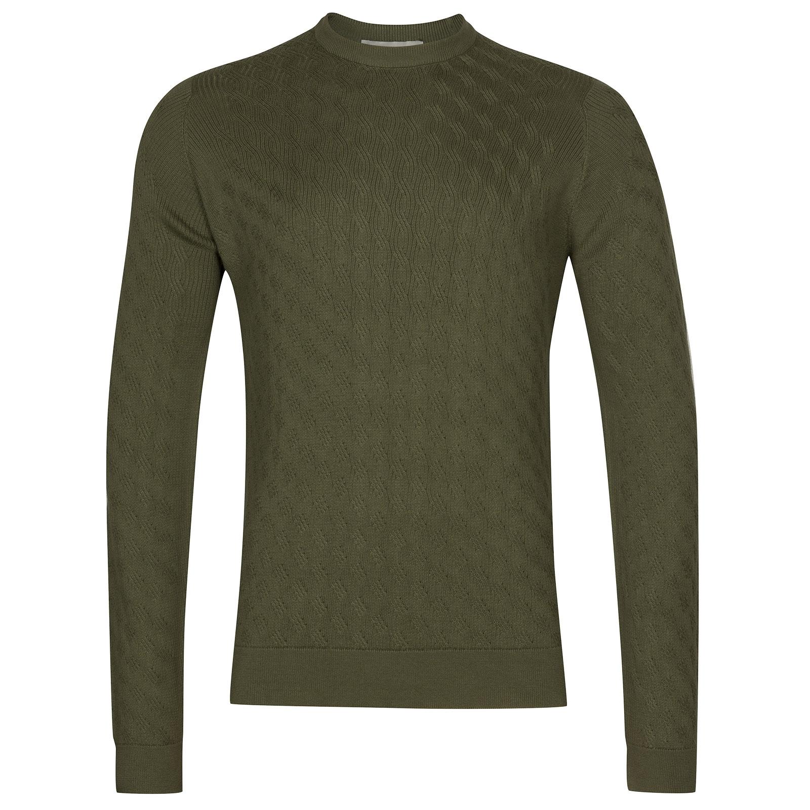 John Smedley Wicker in Sepal Green Pullover-MED