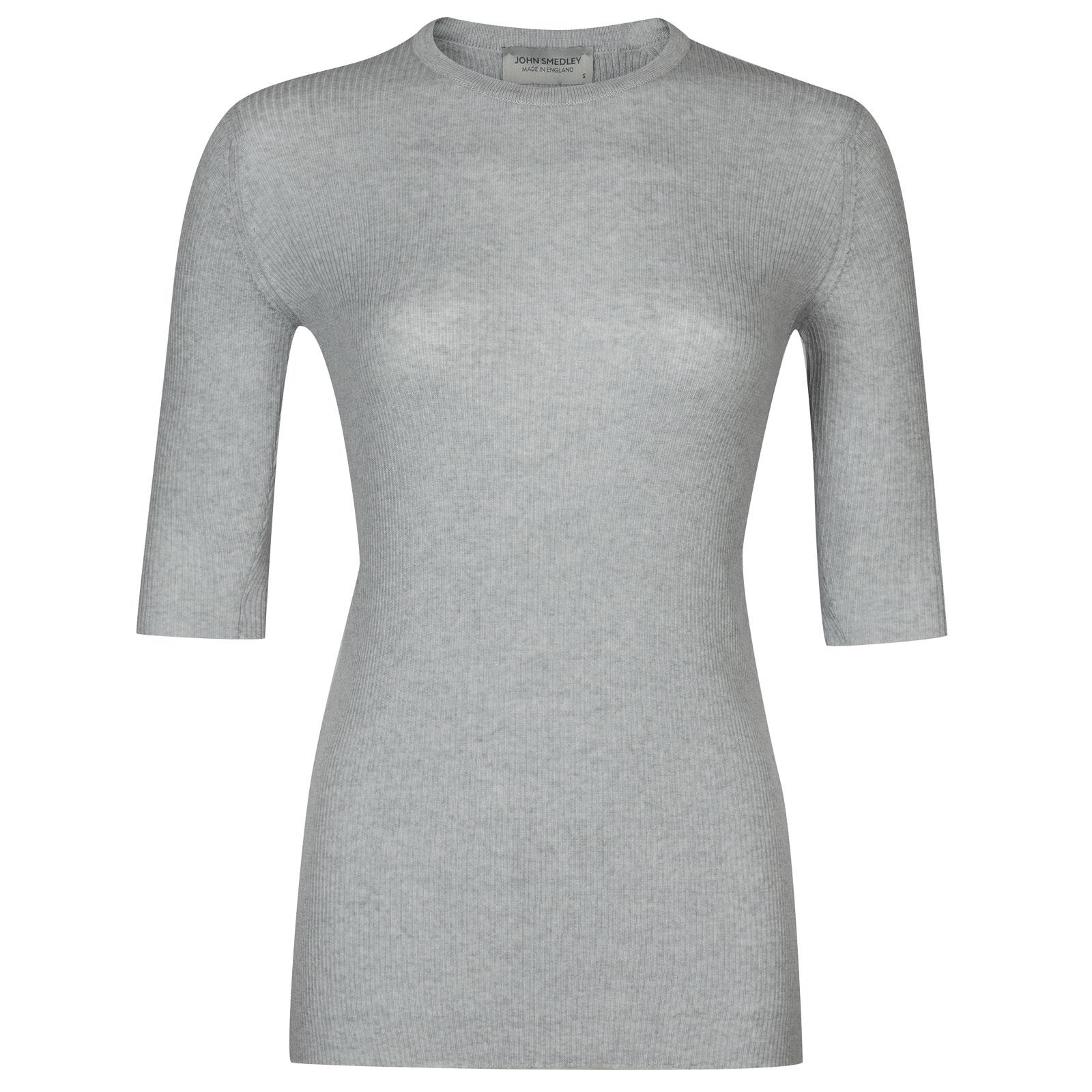 John Smedley wilis Merino Wool Sweater in Bardot Grey-M