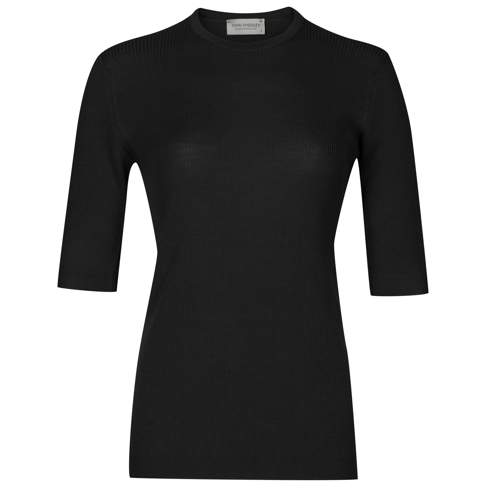 John Smedley wilis Merino Wool Sweater in Black-XL
