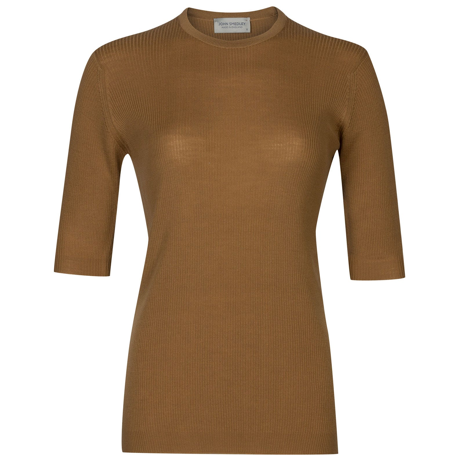 John Smedley wilis Merino Wool Sweater in Camel-XL
