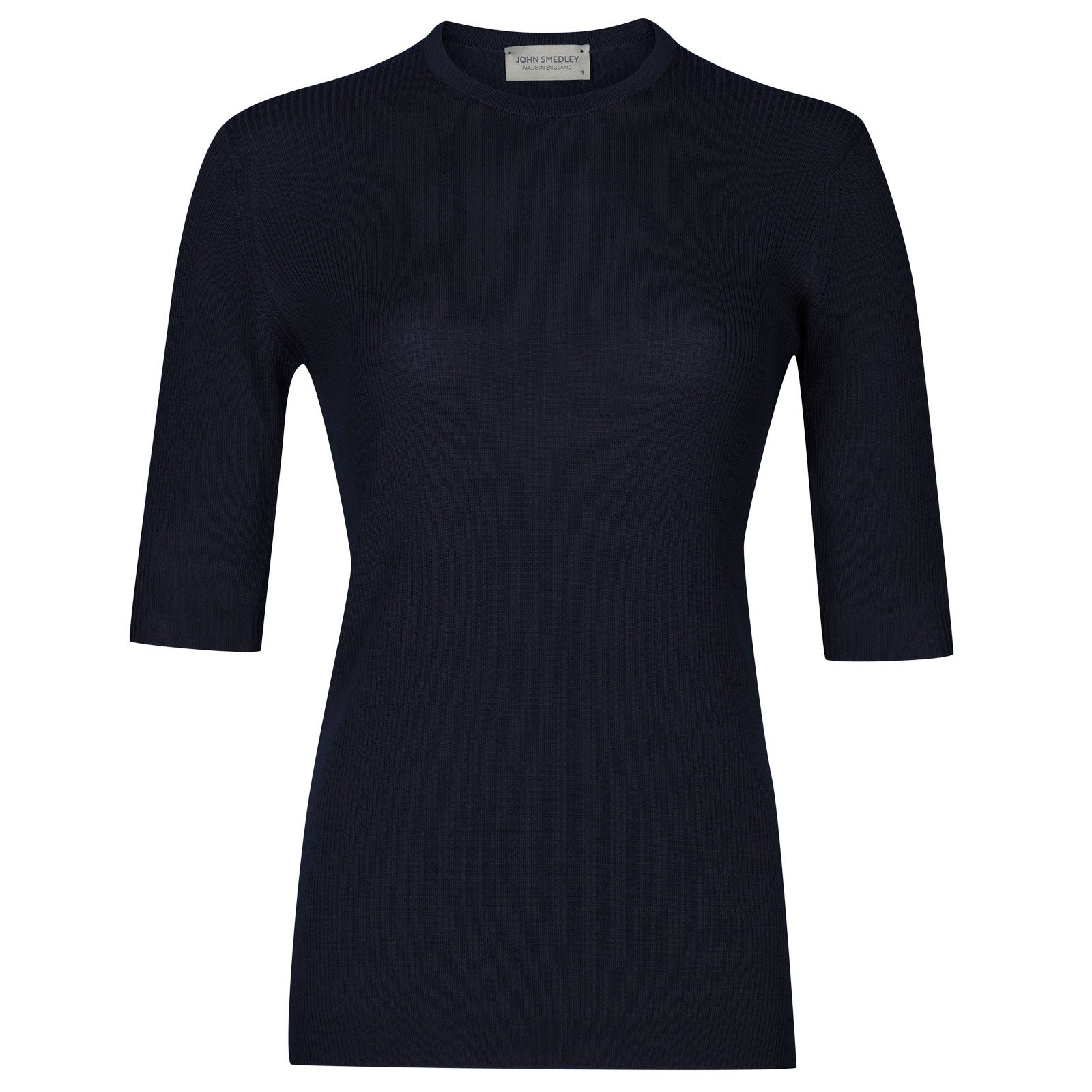 John Smedley wilis Merino Wool Sweater in Midnight-S