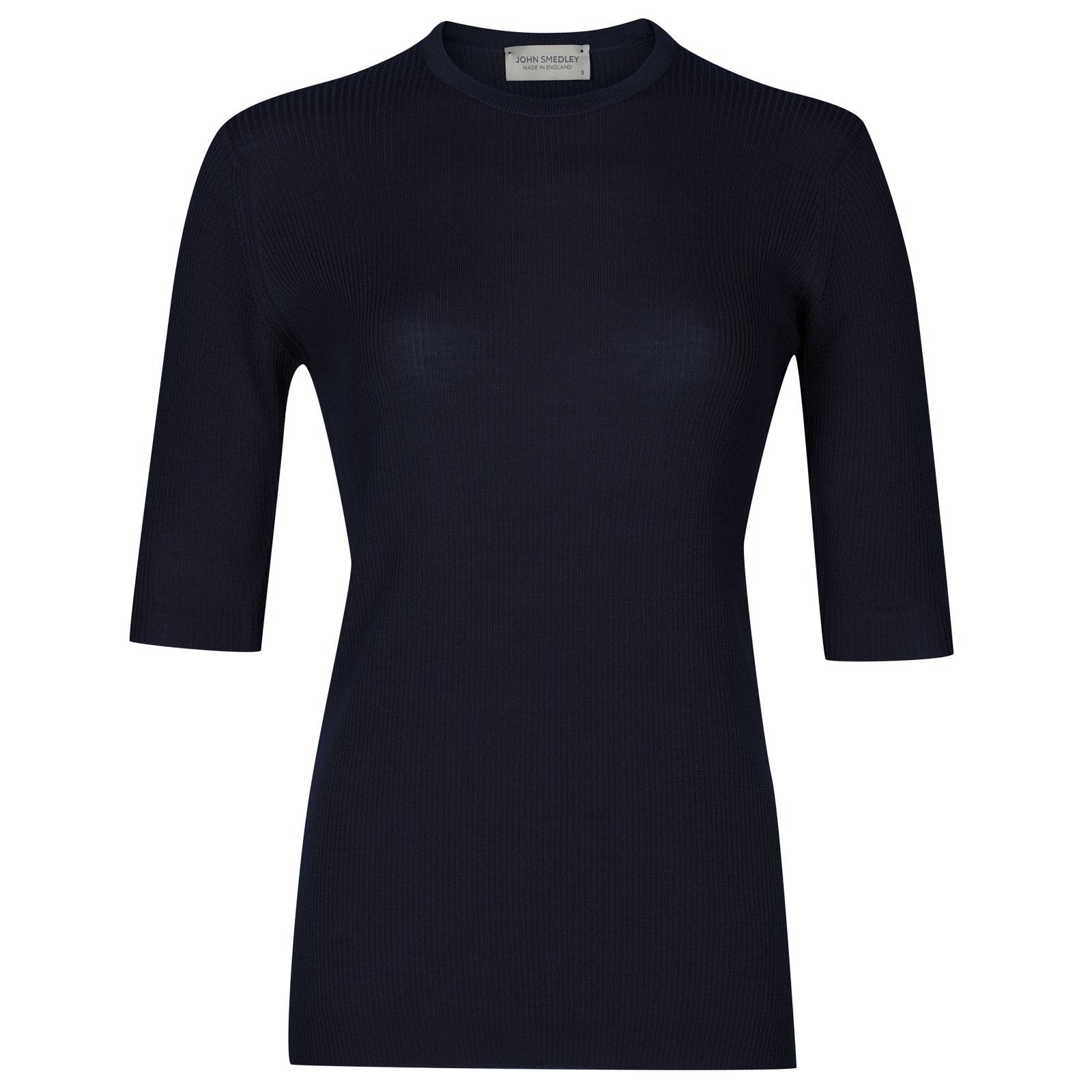 John Smedley wilis Merino Wool Sweater in Midnight-L