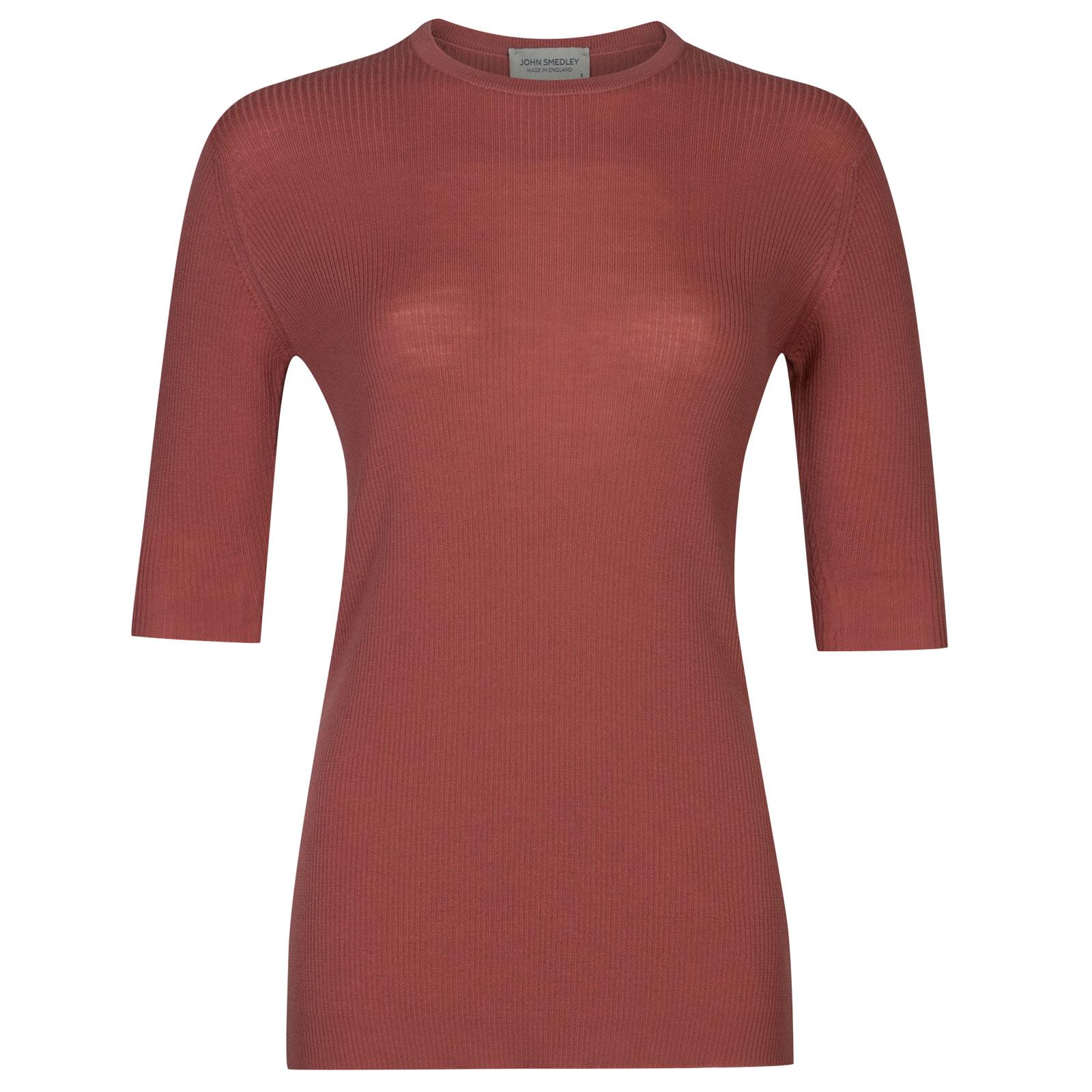 John Smedley wilis Merino Wool Sweater in Stanton Pink-XL