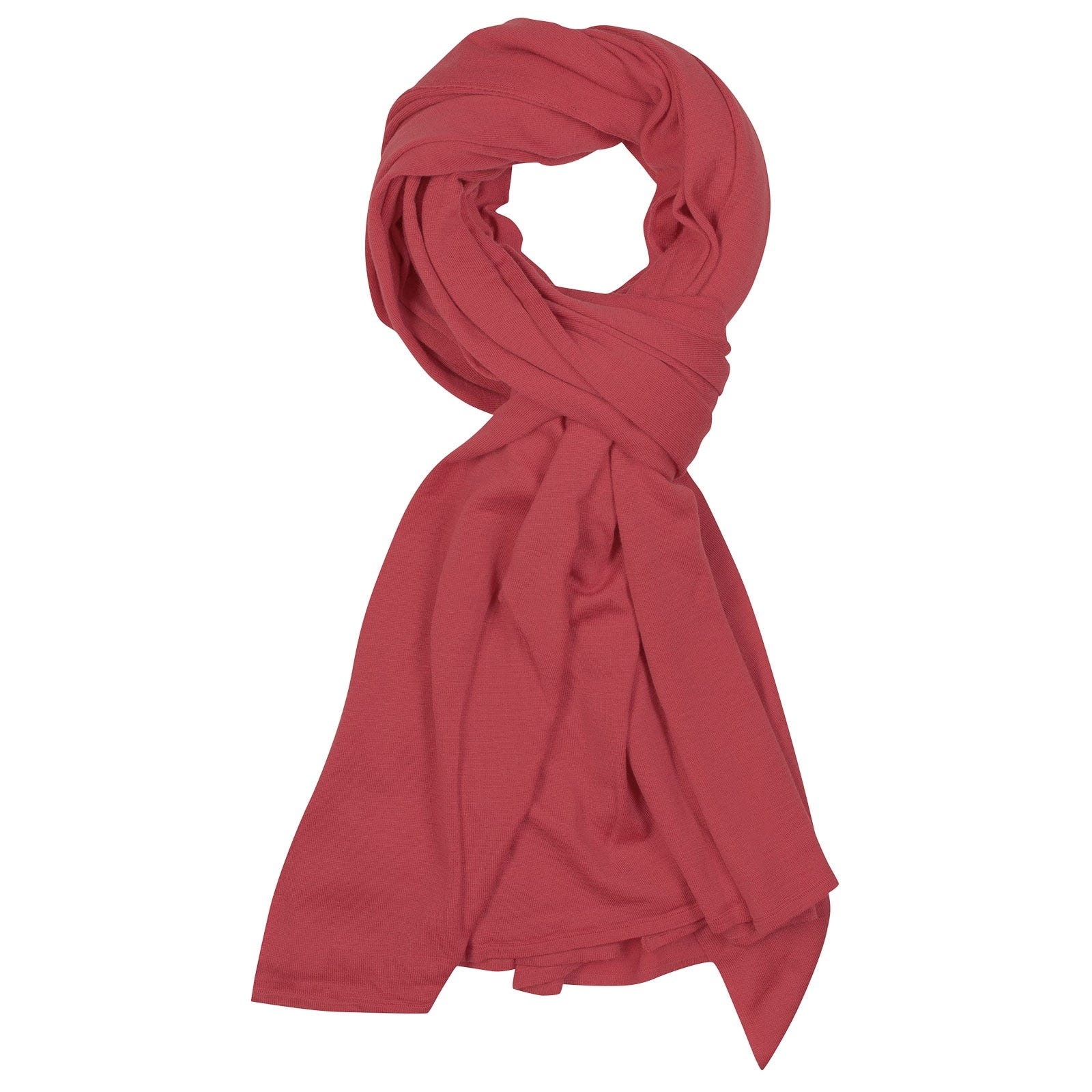 John Smedley Wings Merino Wool Shawl in Atomic Cerise-ONE