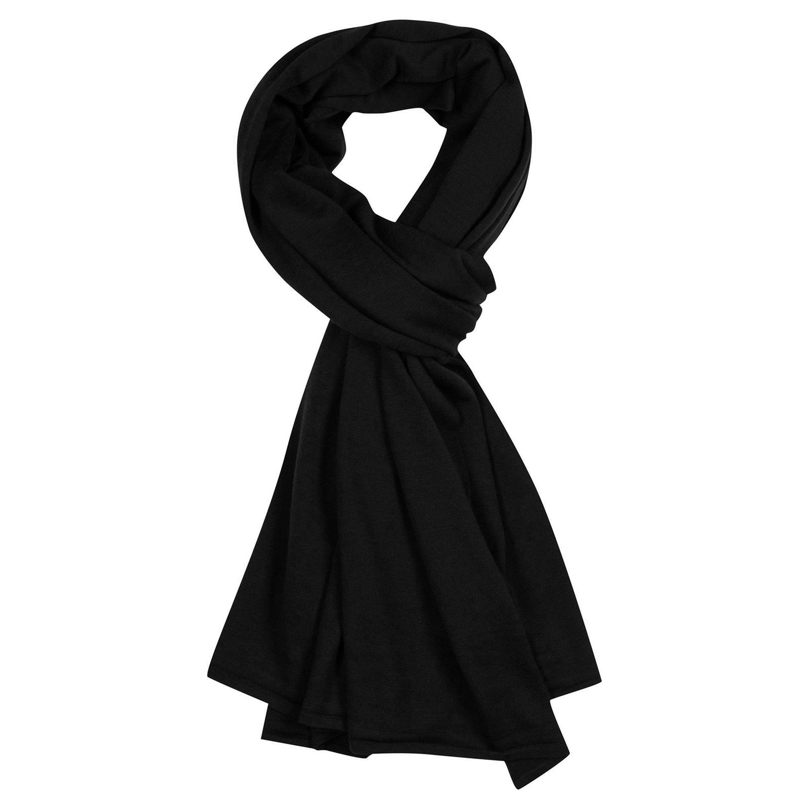 John Smedley wings Merino Wool Shawl in Black-ONE