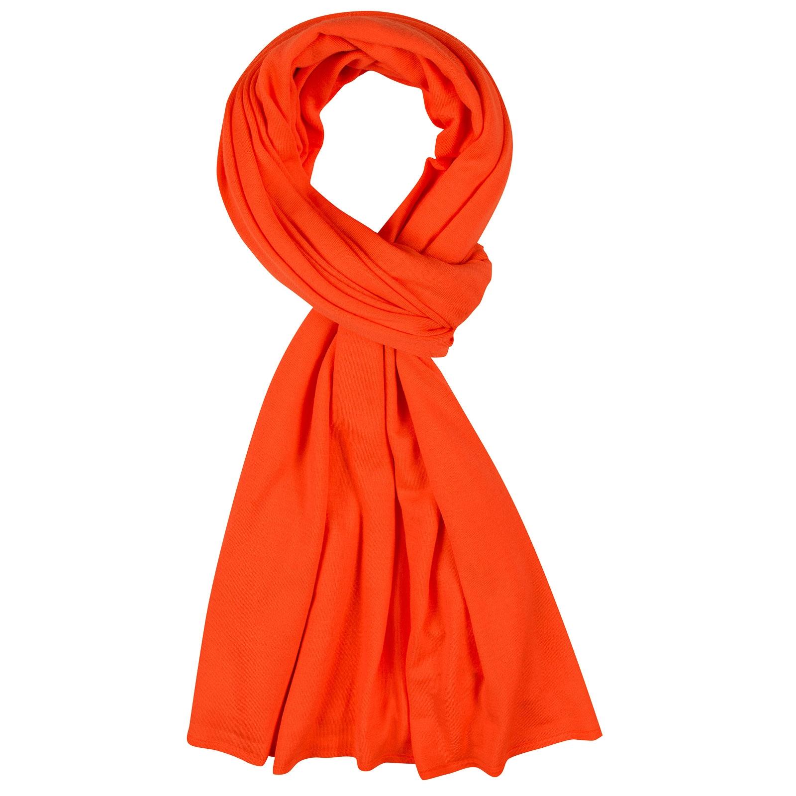 John Smedley Wings Merino Wool Shawl in Blaze Orange-ONE