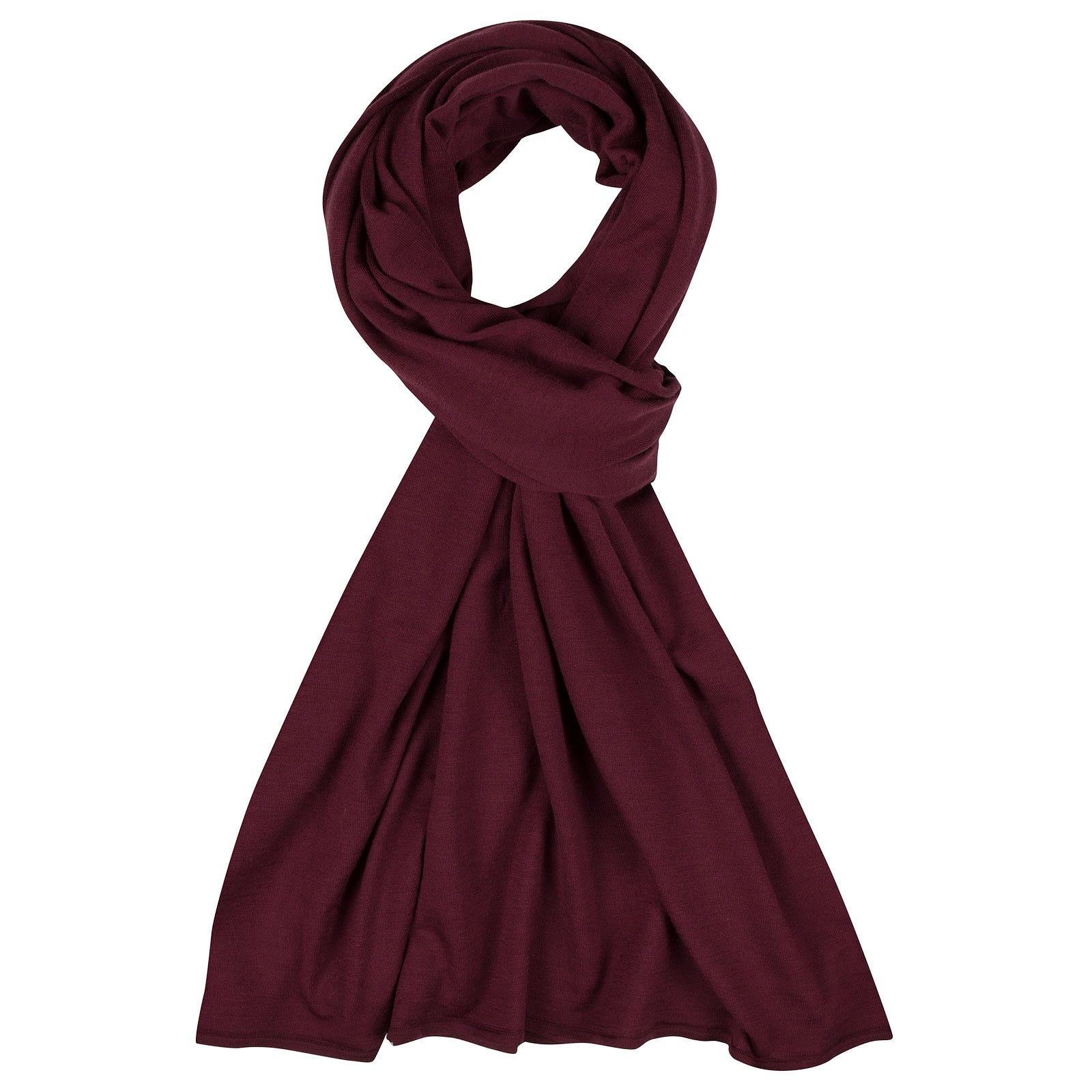 John Smedley Wings Merino Wool Shawl in Bordeaux-ONE