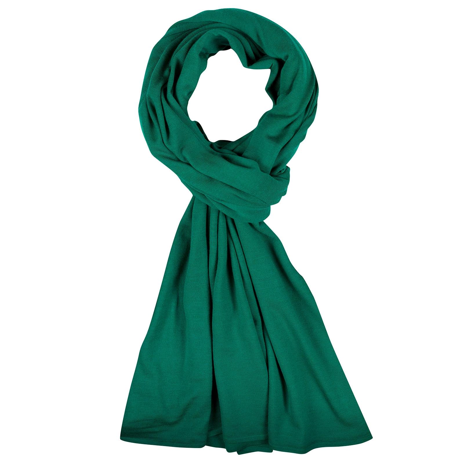 John Smedley Wings Merino Wool Shawl in Boron Green-ONE