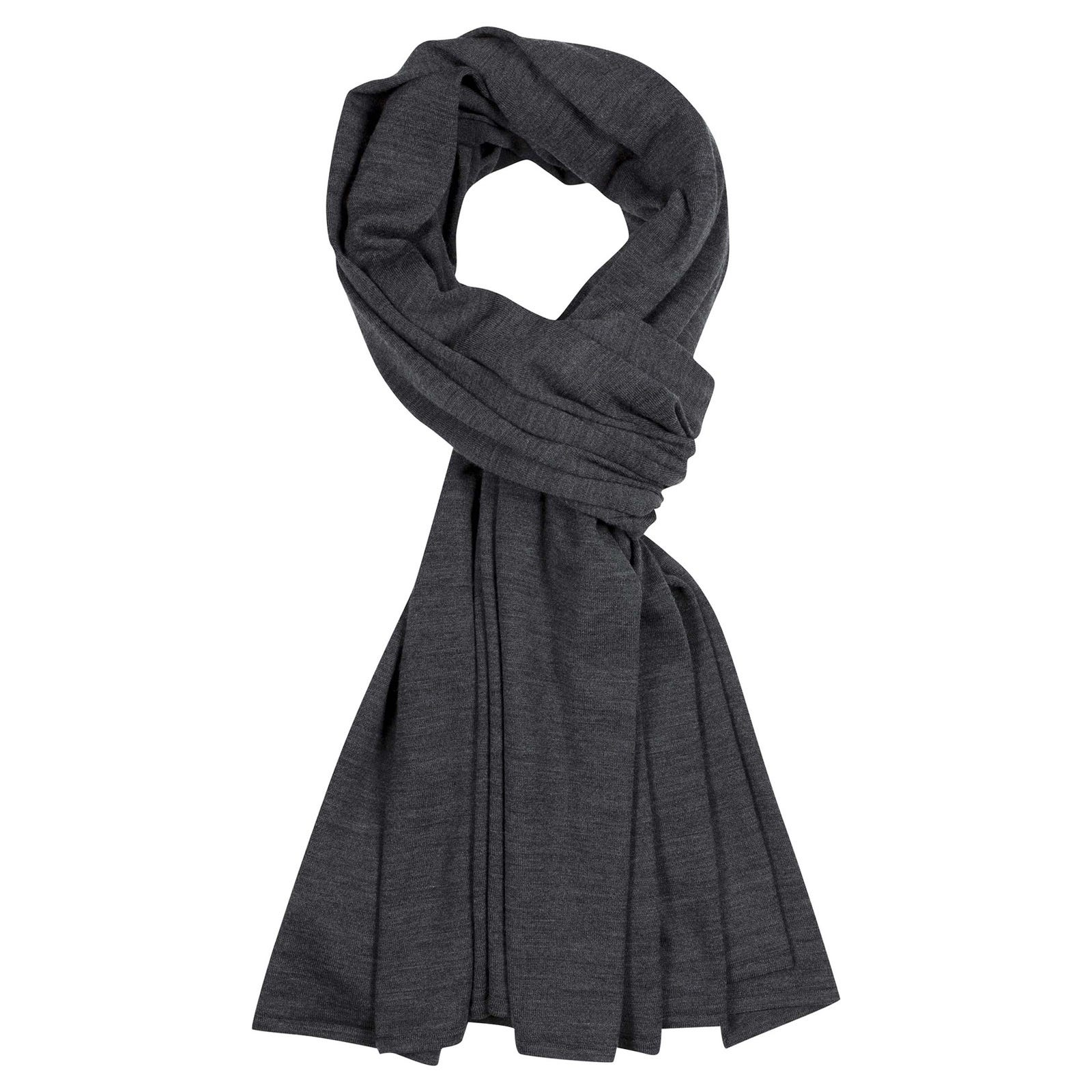 John Smedley wings Merino Wool Shawl in Charcoal-ONE