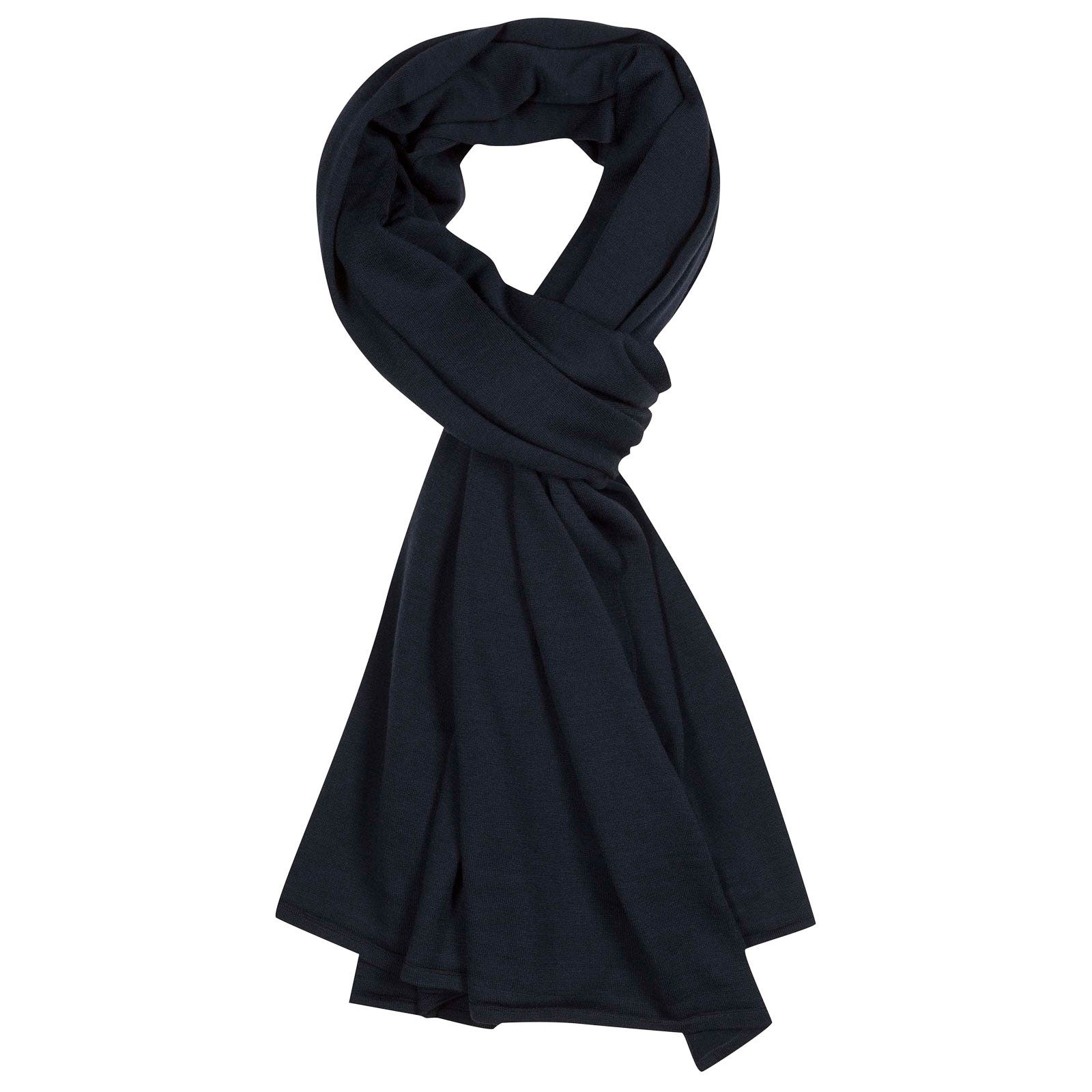 John Smedley wings Merino Wool Shawl in Midnight-ONE