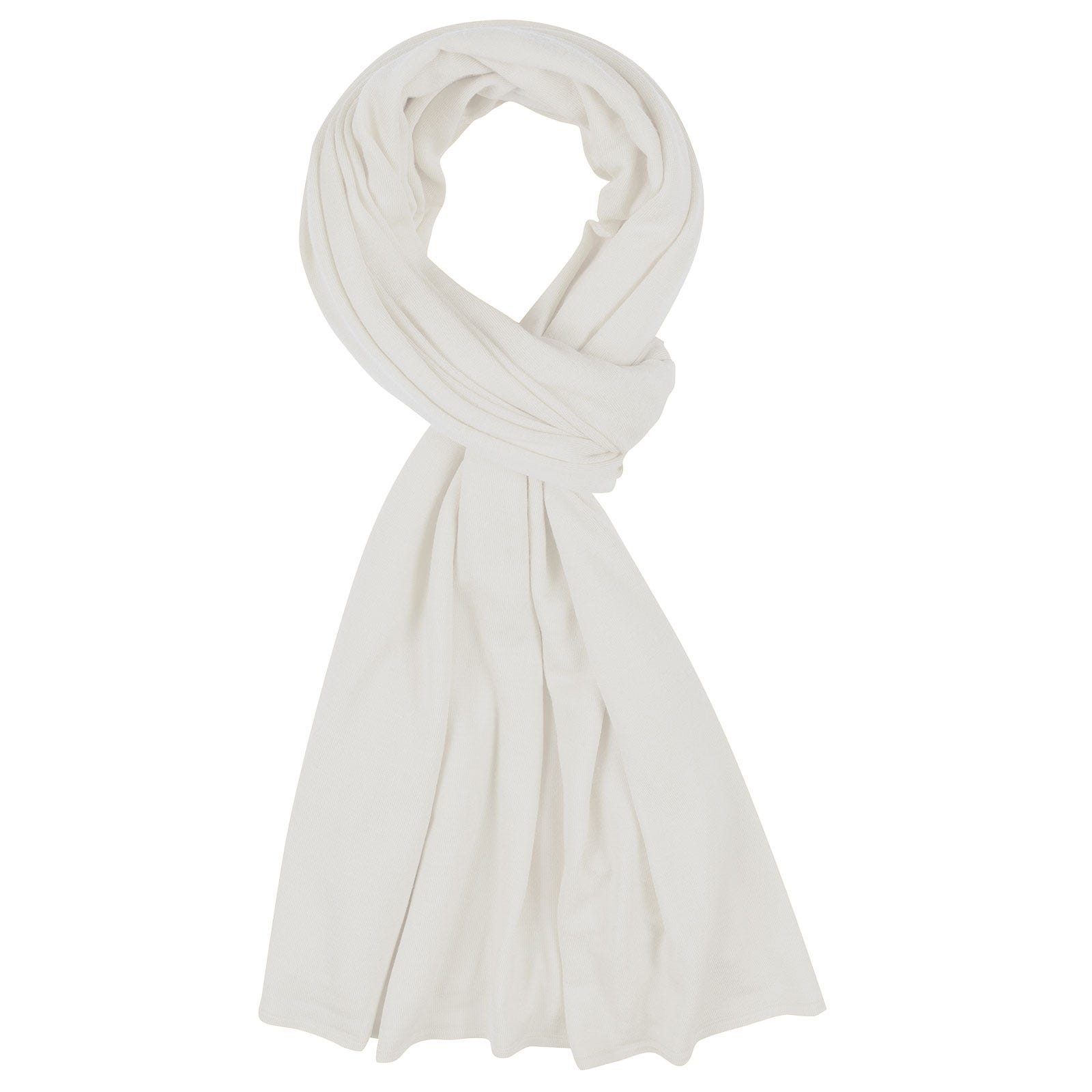 John Smedley Wings Merino Wool Shawl in Snow White-ONE