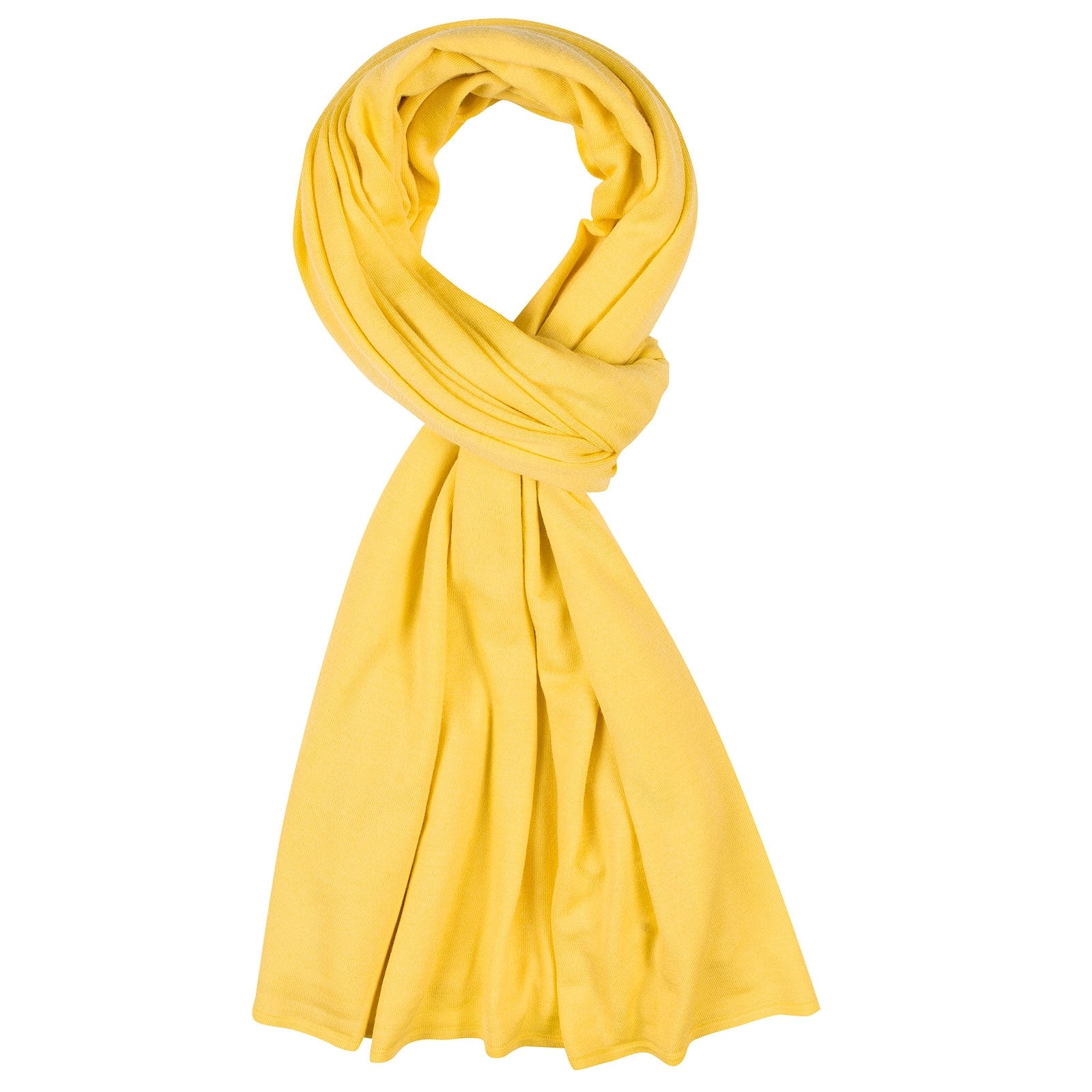 John Smedley Wings Merino Wool Shawl in Solar Yellow-ONE
