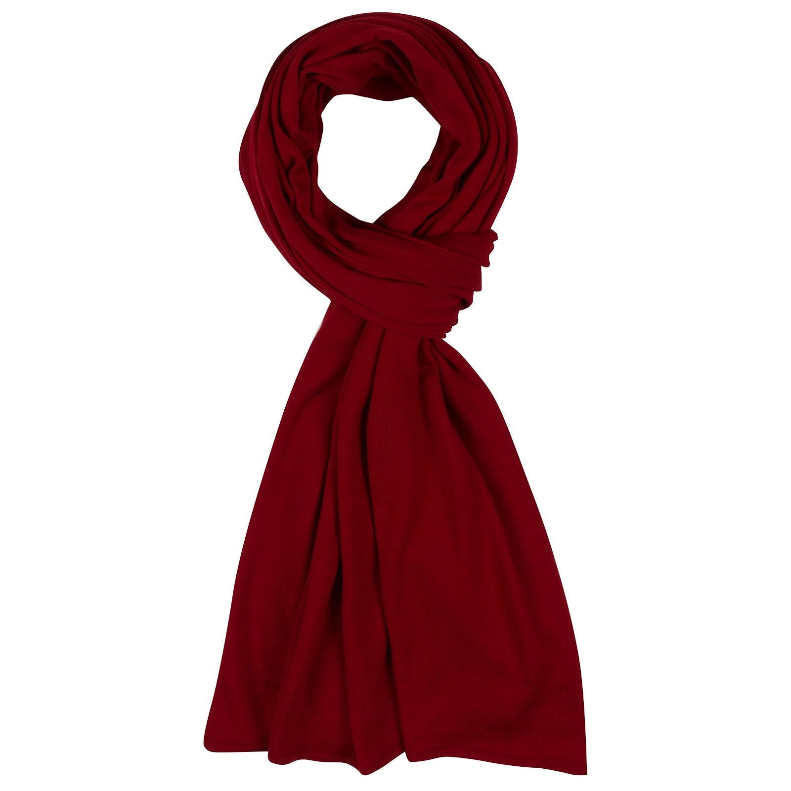 John Smedley Wings Merino Wool Shawl in Thermal Red-ONE