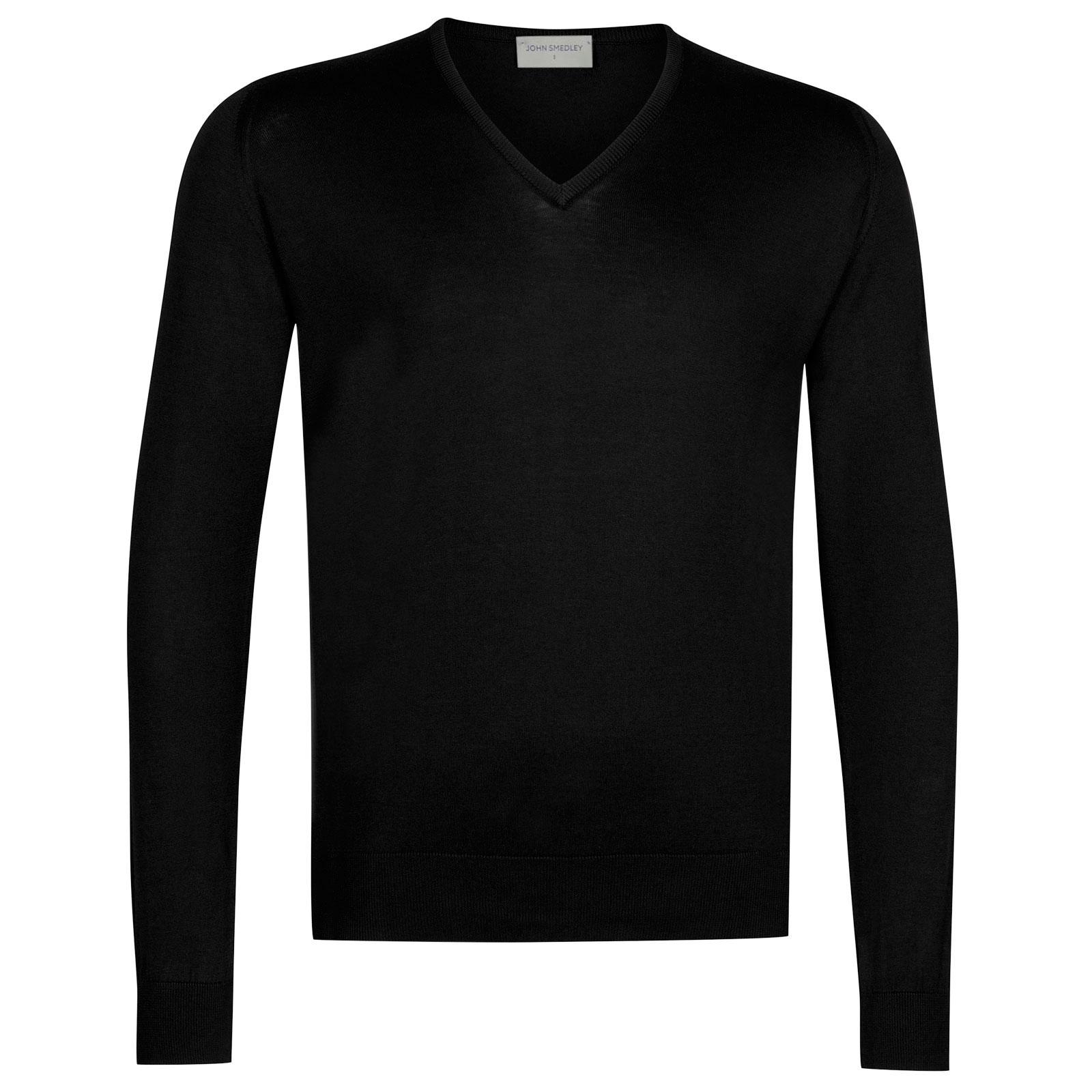 John Smedley Woburn Sea Island Cotton Pullover in Black-L