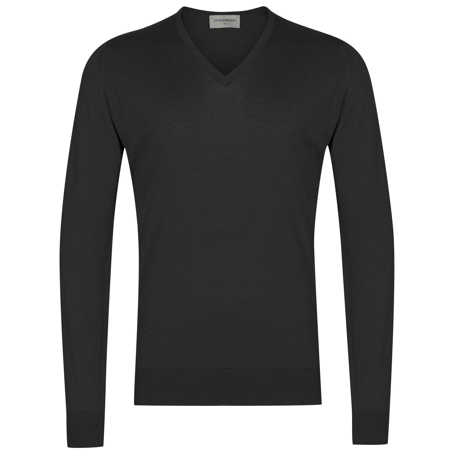 John Smedley Woburn Sea Island Cotton Pullover in Flannel Grey-S
