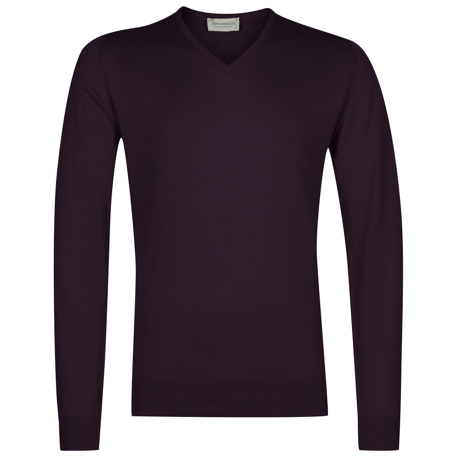 John Smedley Woburn Sea Island Cotton Pullover in Mystic Purple-XL