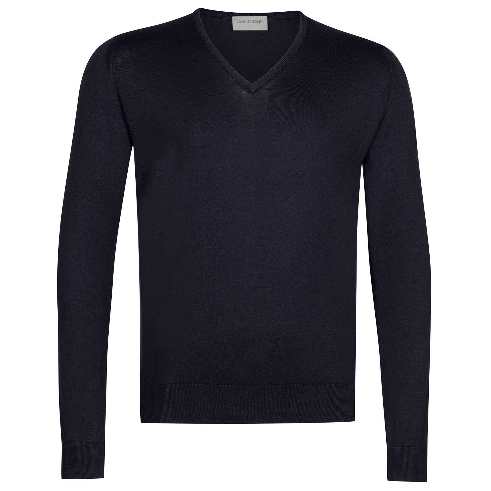 John Smedley Woburn Sea Island Cotton Pullover in Navy-XXL