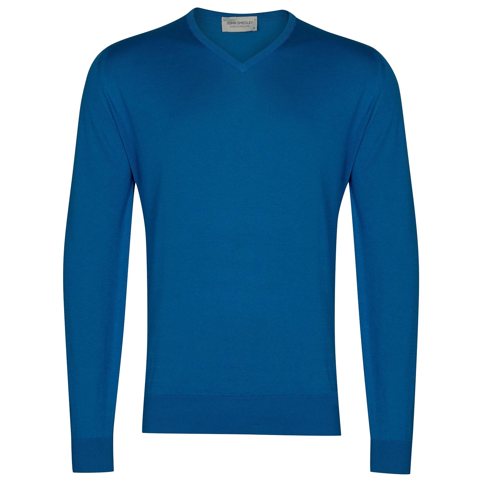 John Smedley Woburn in Statice Blue Pullover-MED