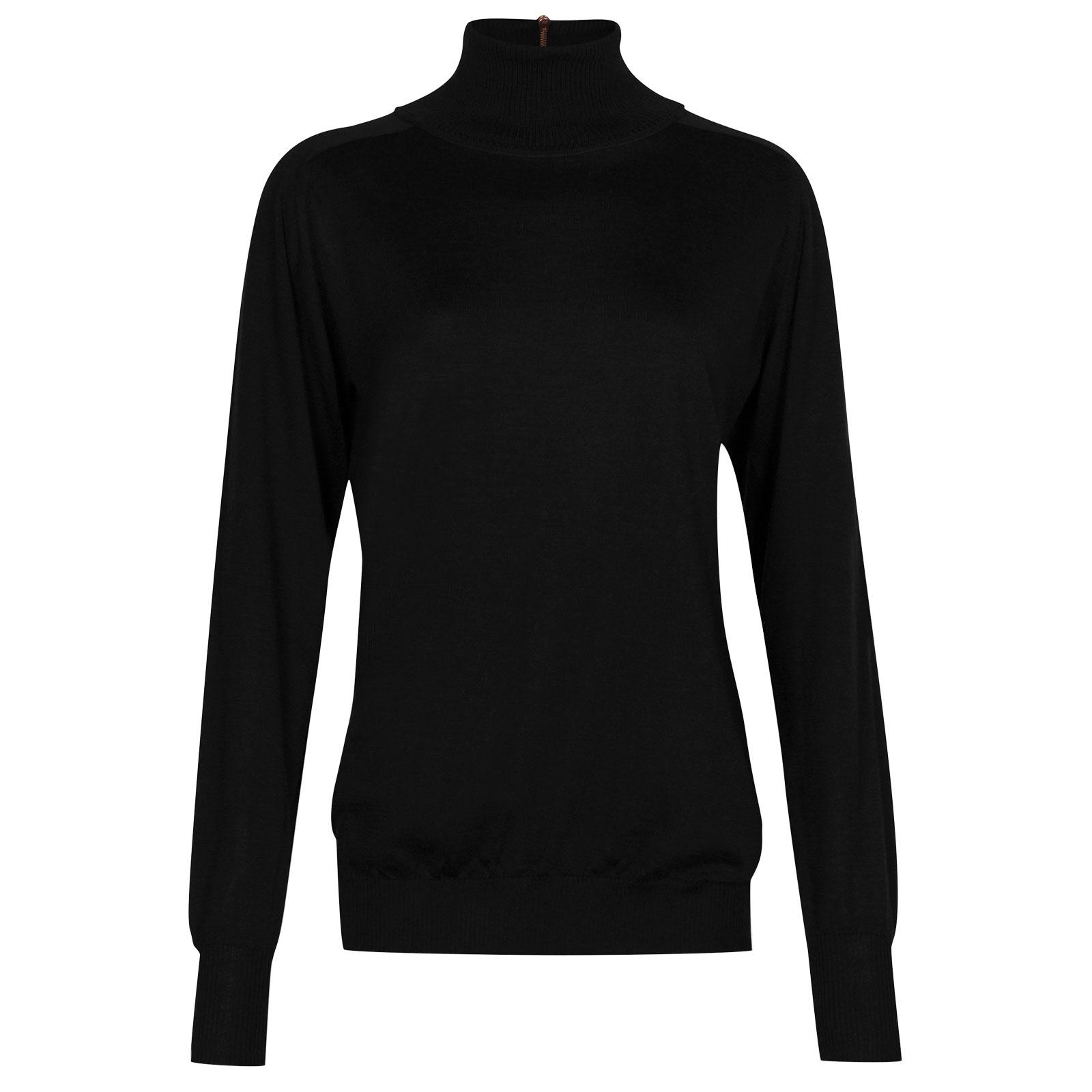 John Smedley Woolf in Black Sweater-xsm
