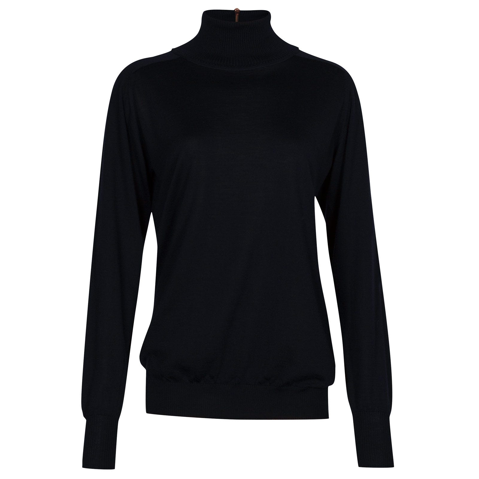 John Smedley woolf Merino Wool & Cashmere Sweater in midnight-L