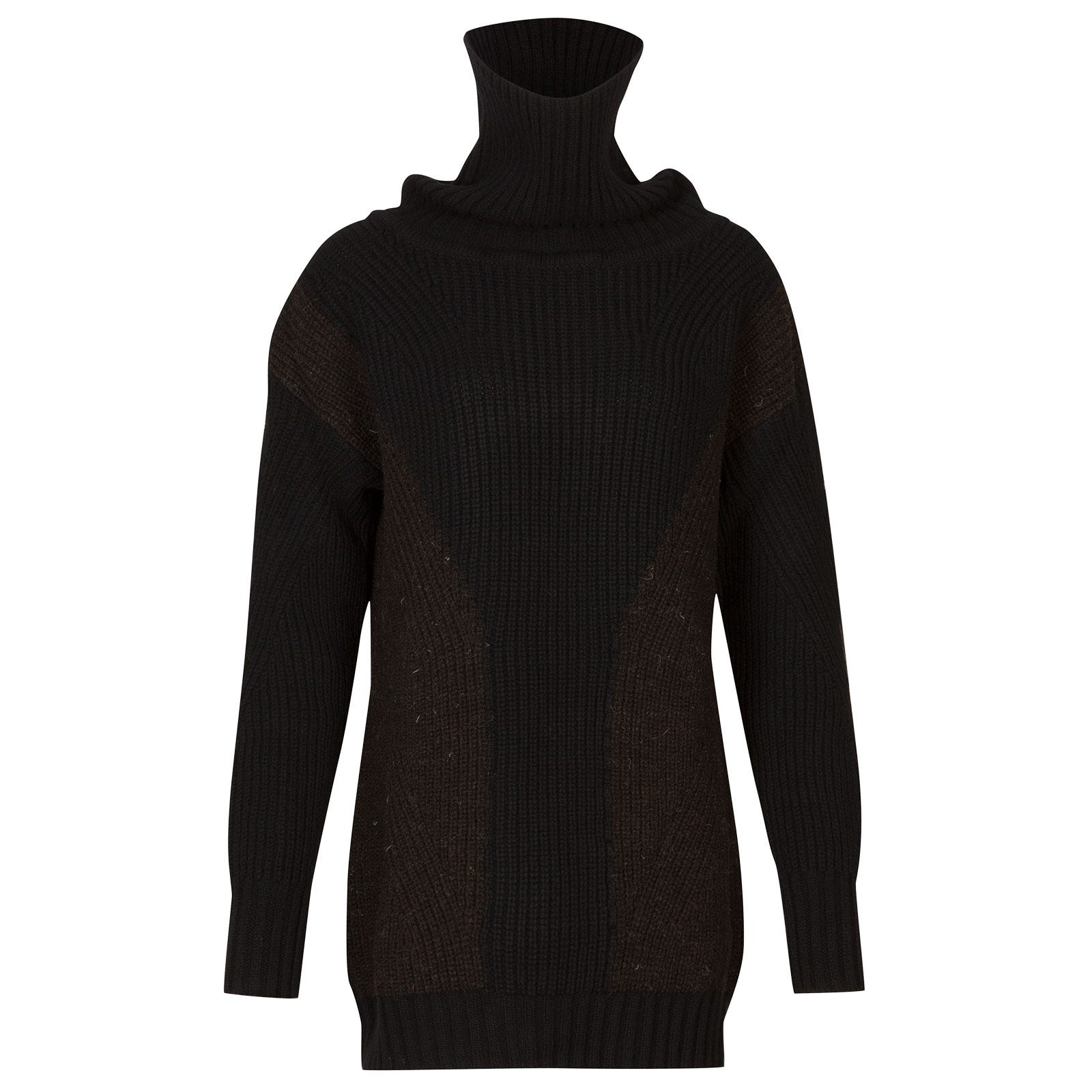 John Smedley wyedale British Wool & Cashmere Wool Sweater in Black-M