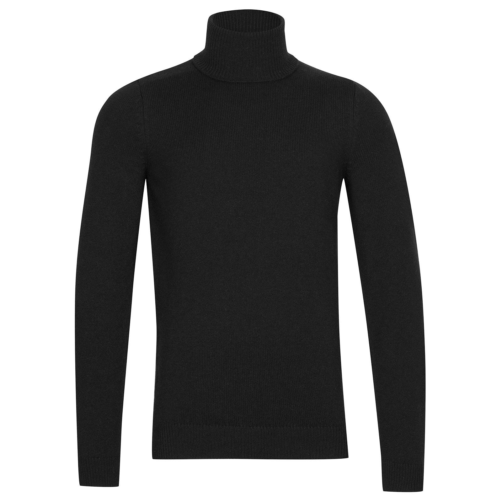 John Smedley Zachary Wool and Cashmere Pullover in Black-L