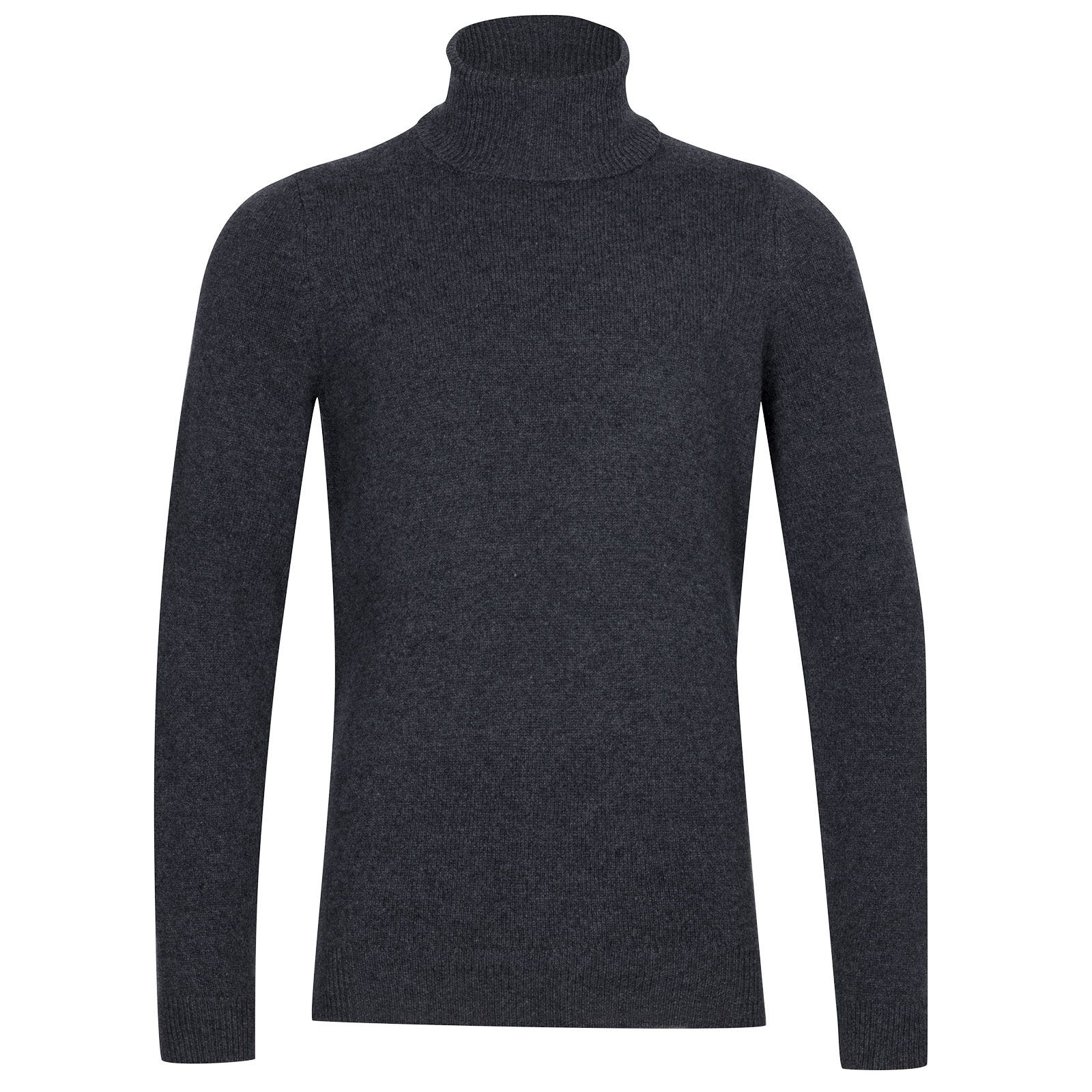 John Smedley Zachary Wool and Cashmere Pullover in Charcoal-XXL