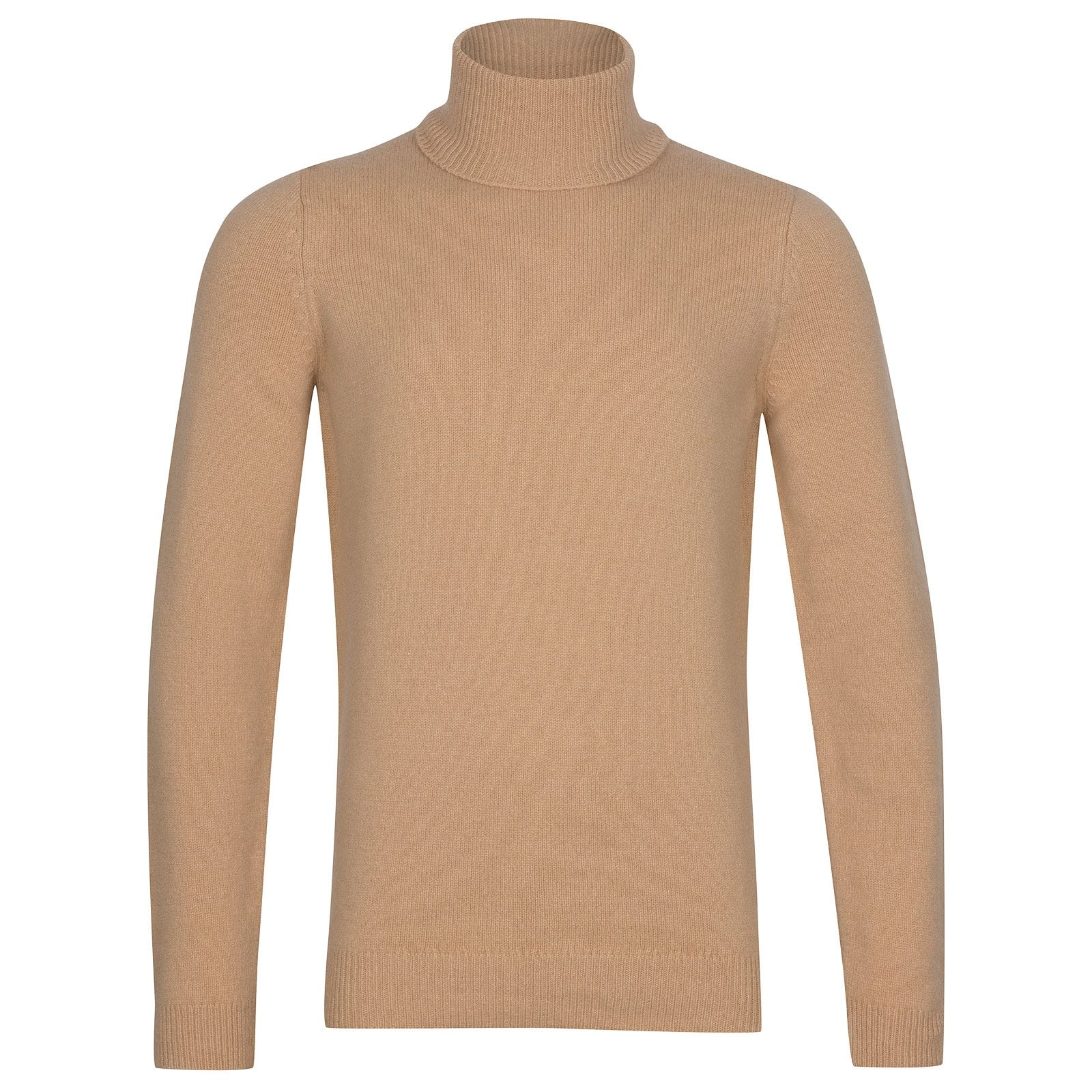 John Smedley Zachary Wool and Cashmere Pullover in Light Camel-XL