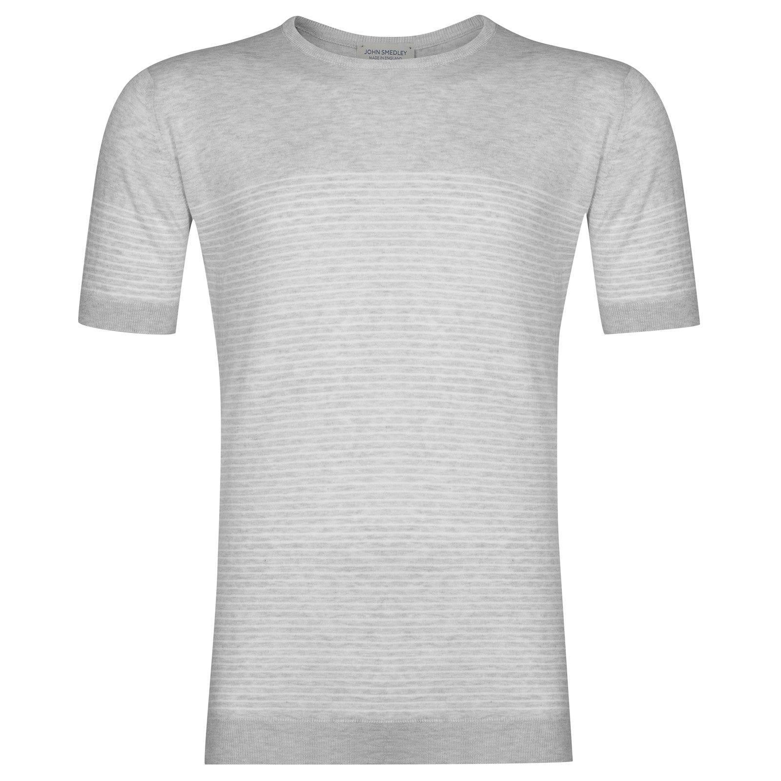 John Smedley Zester Tshirt in Feather Grey -M