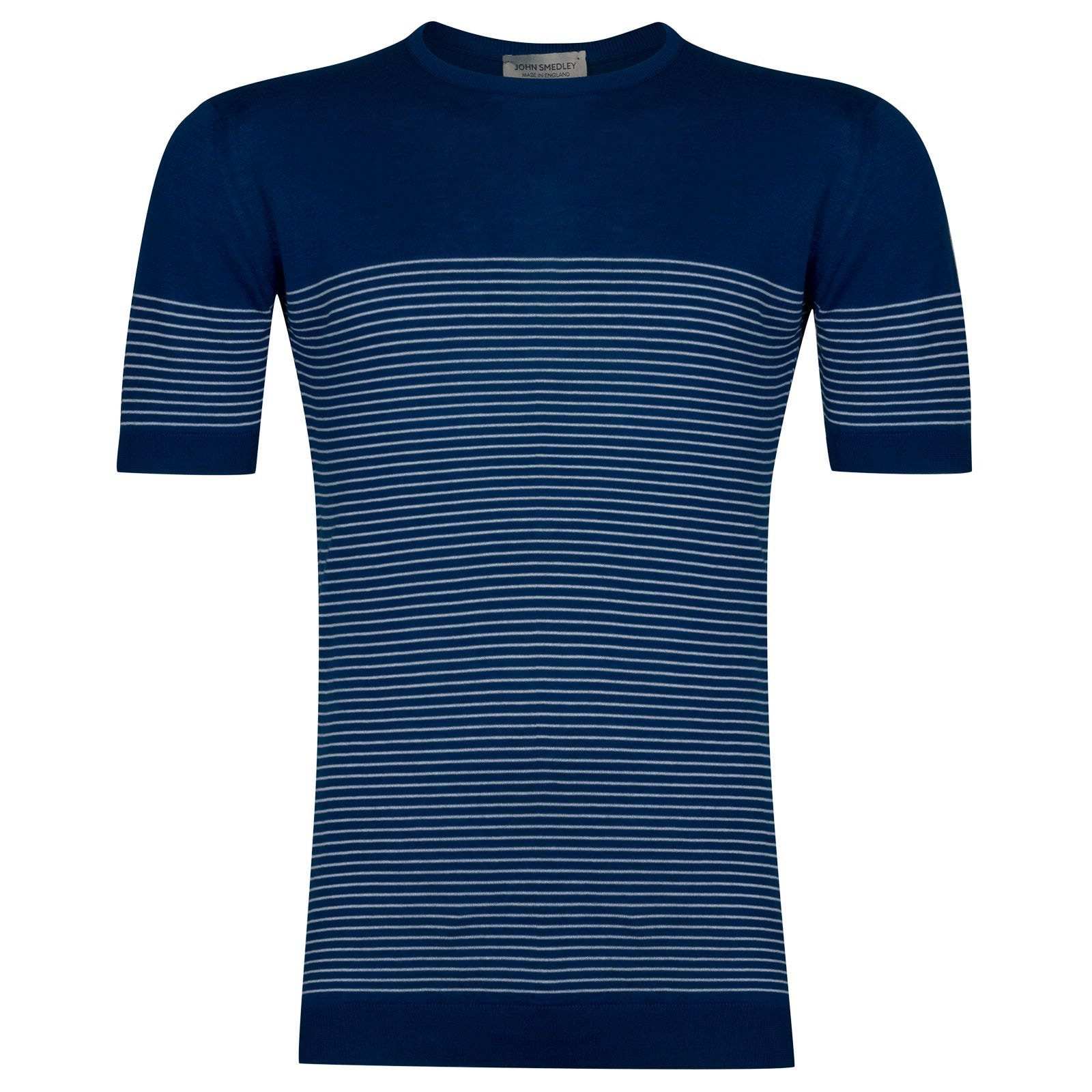 John Smedley Zester Tshirt in Stevens Blue -M