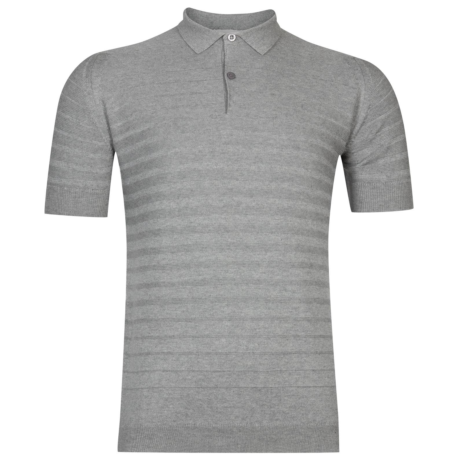 John Smedley Zuber Cotton Shirt in Silver -Xl