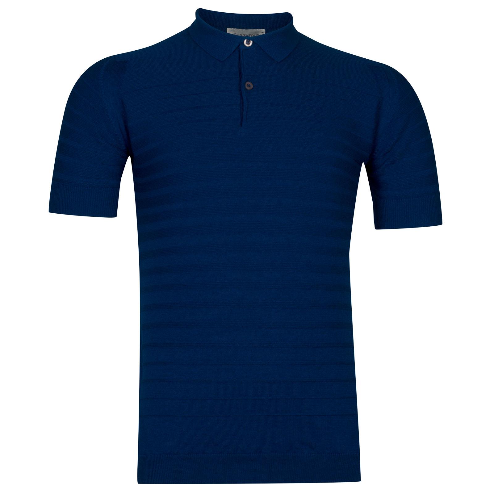 John Smedley Zuber Cotton Shirt in Stevens Blue -Xl